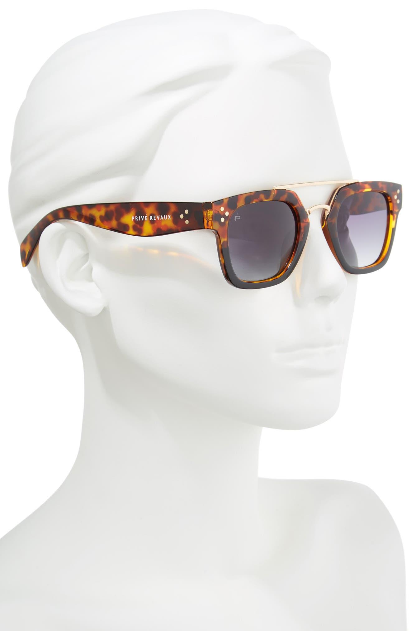 Alternate Image 3  - Privé Revaux The Foxx 49mm Aviator Sunglasses
