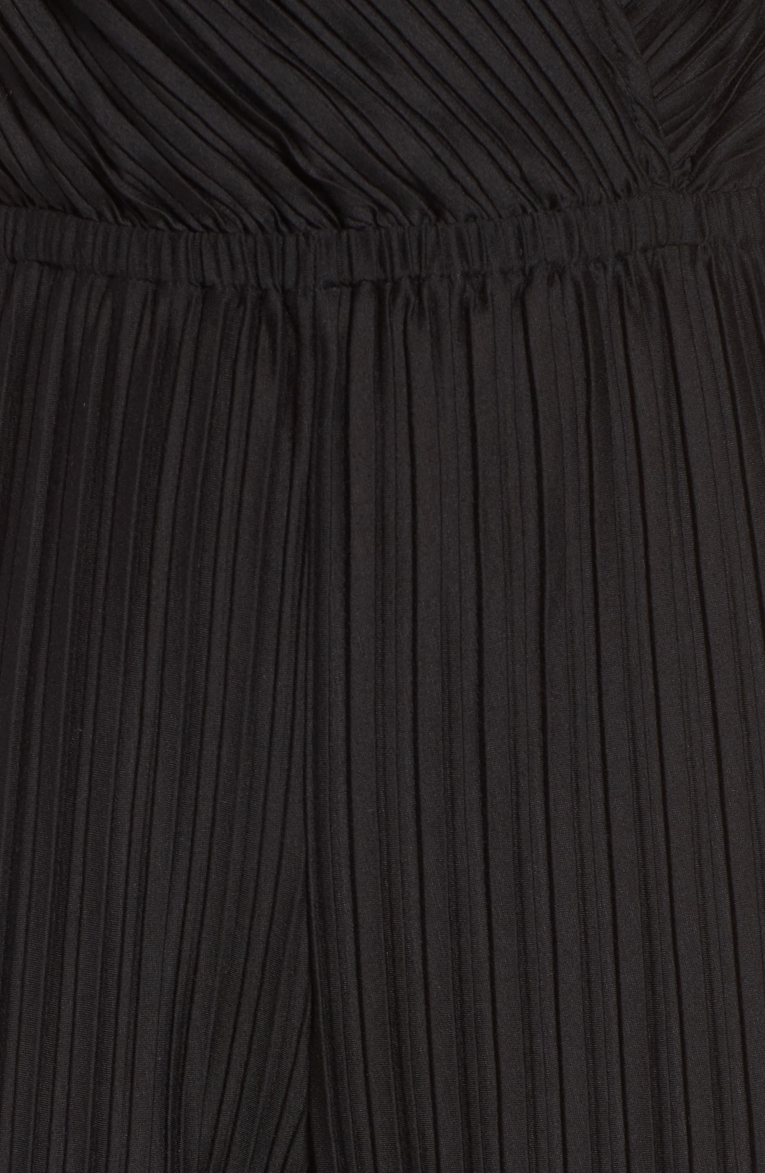 Austine Pleated Jumpsuit,                             Alternate thumbnail 5, color,                             Black