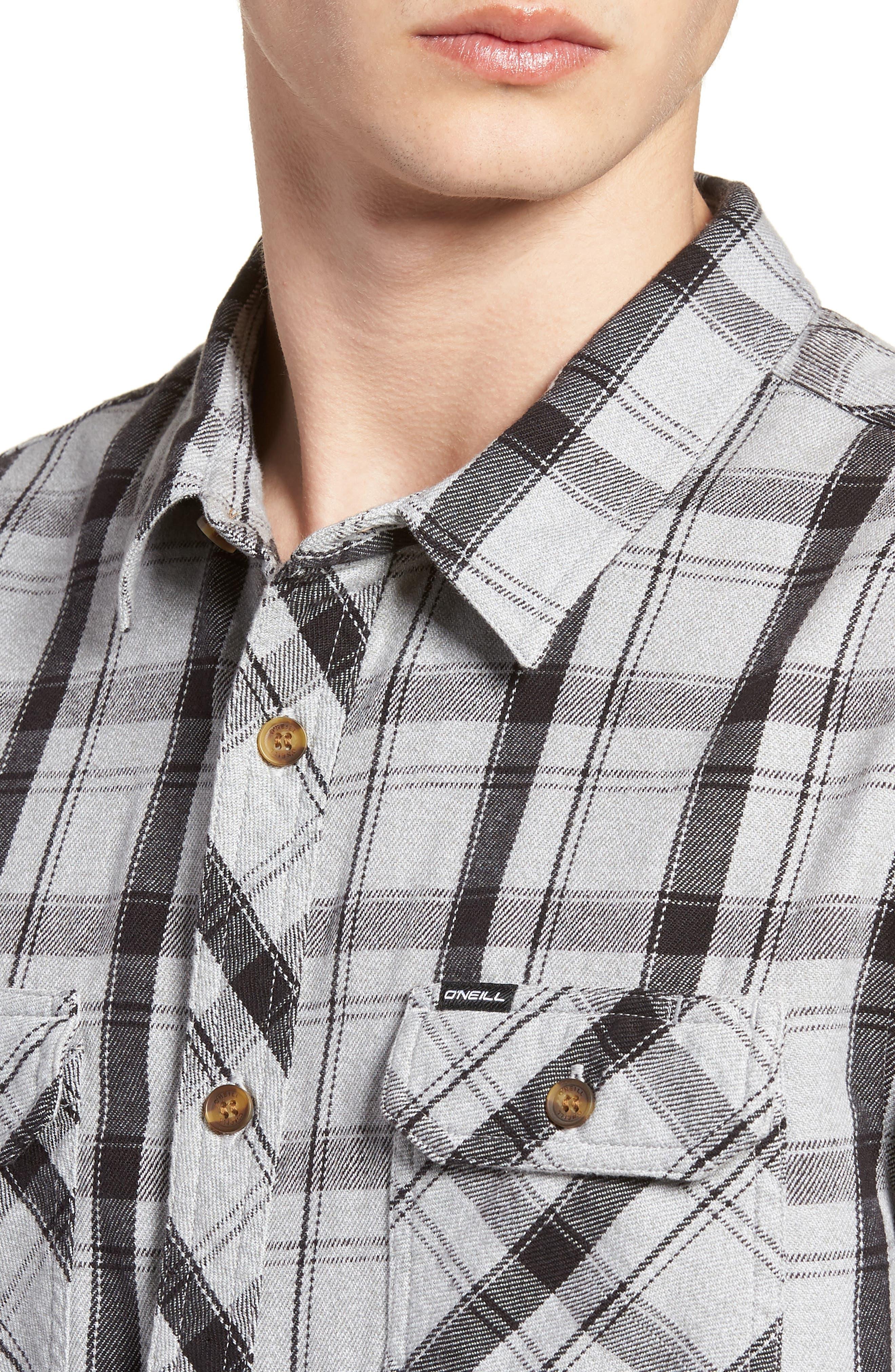 Carpenter Flannel Shirt,                             Alternate thumbnail 2, color,                             Fog