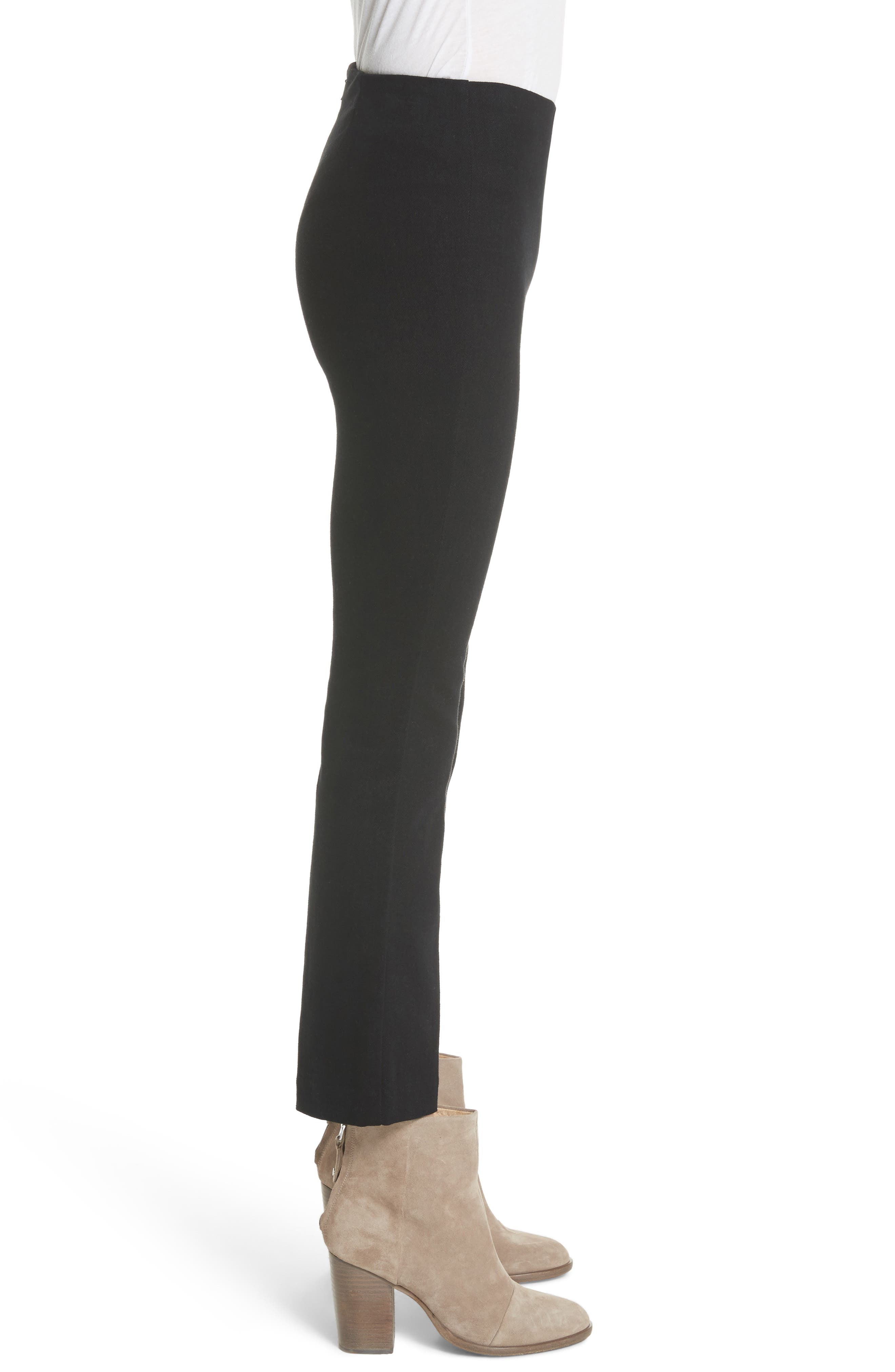 Hina High Rise Crop Pants,                             Alternate thumbnail 3, color,                             Black