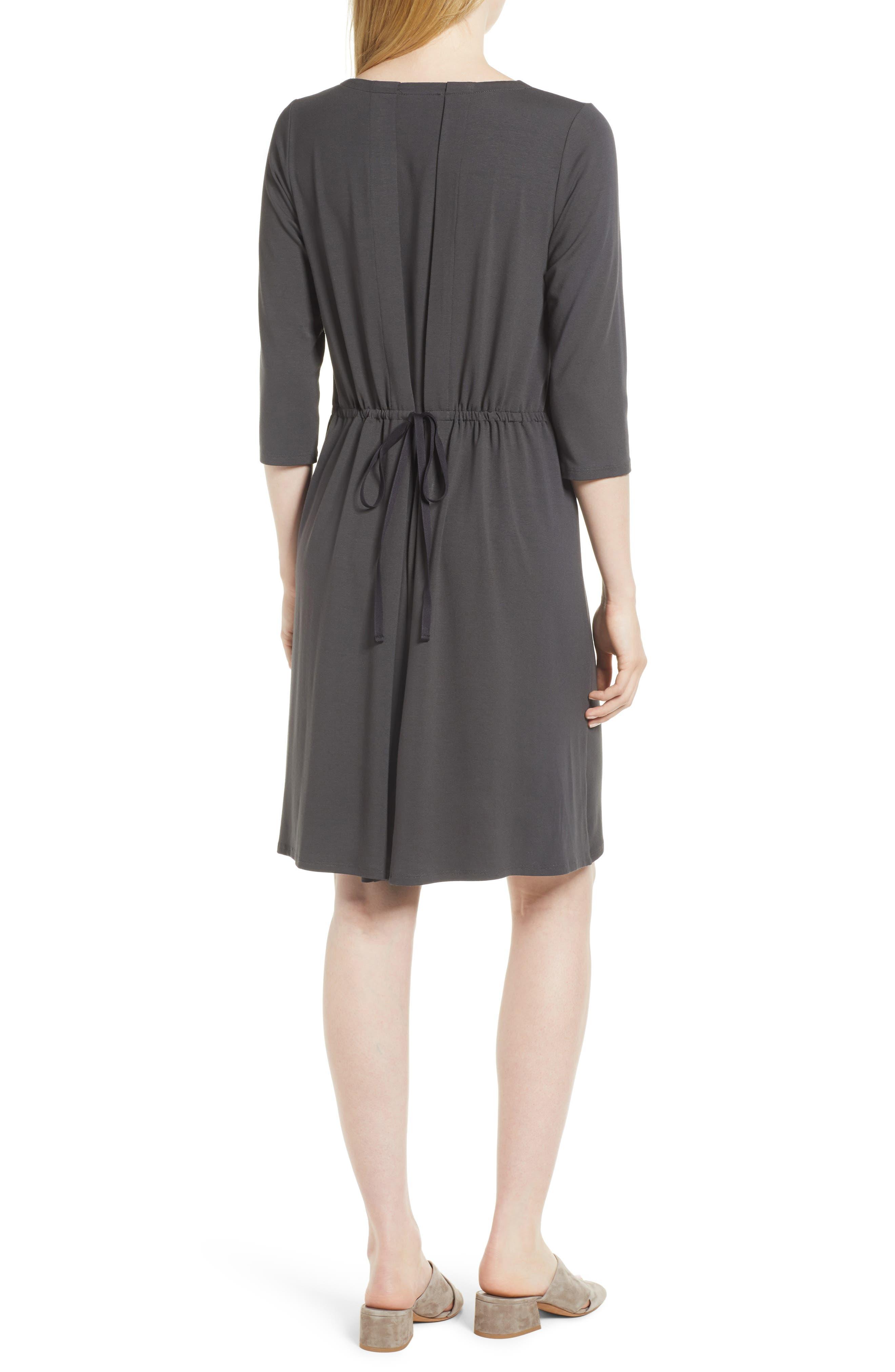 Alternate Image 2  - Eileen Fisher Tie Back Dress (Regular & Petite)