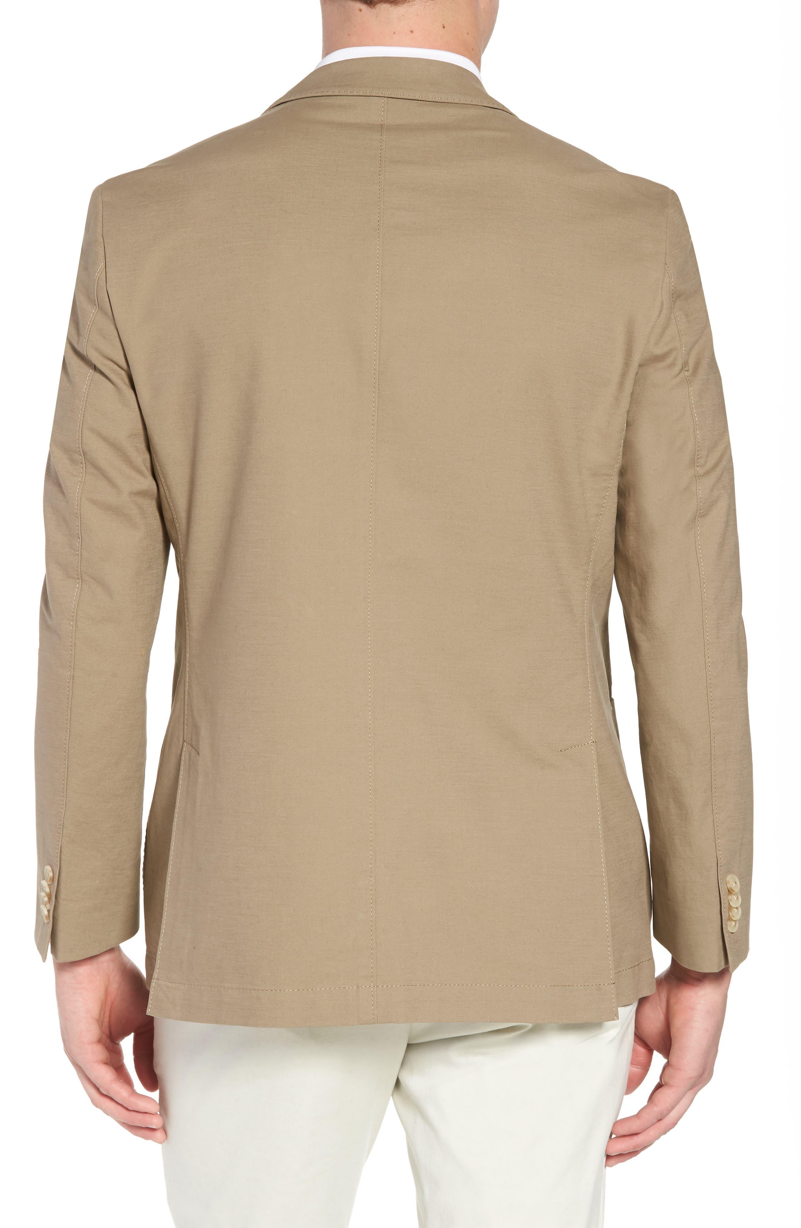 Bono AIM Classic Fit Stretch Cotton Blazer,                             Alternate thumbnail 2, color,                             Khaki