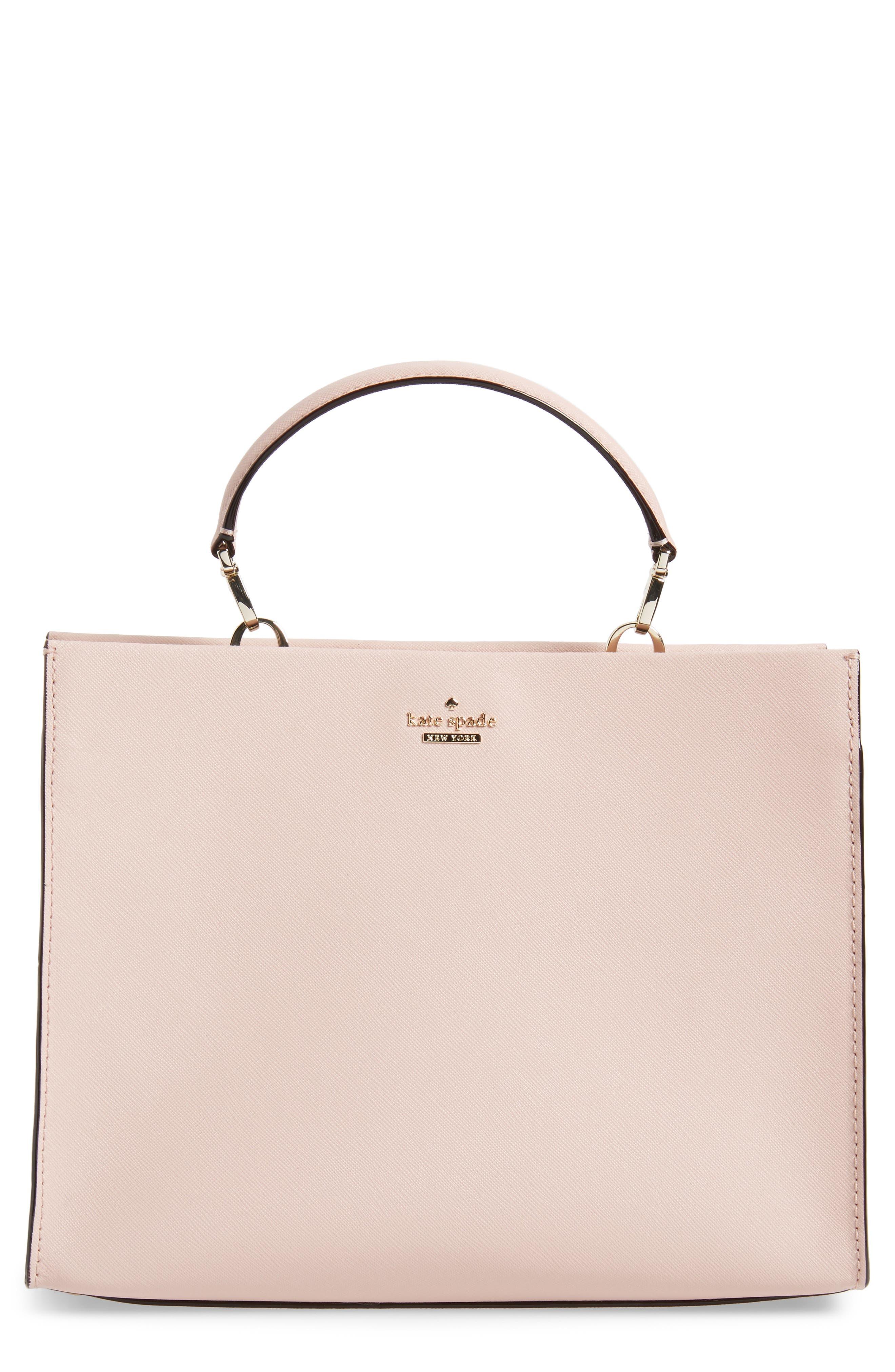 cameron street - sara leather satchel,                         Main,                         color, Warm Vellum