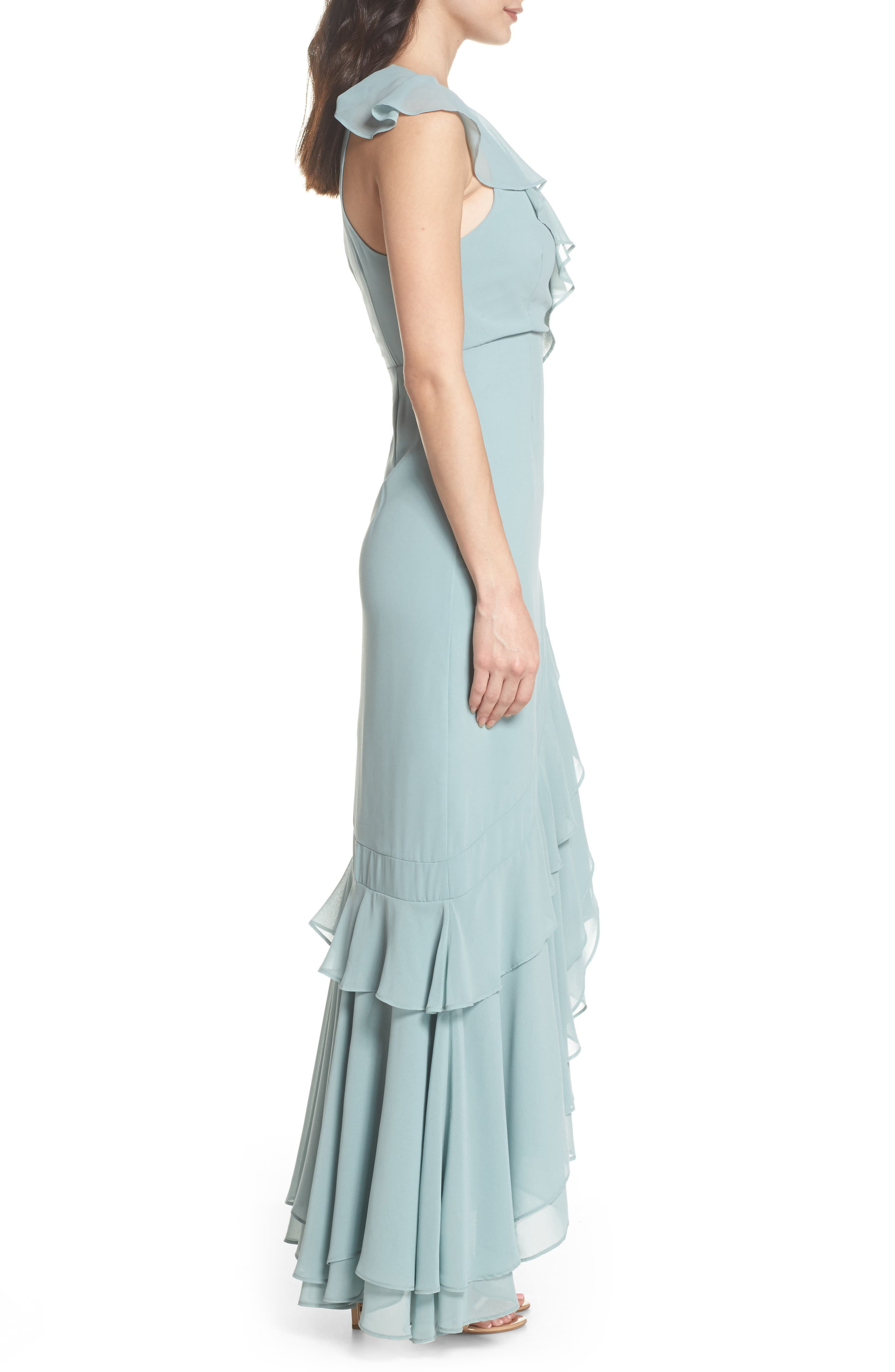 C/MEO Be About You Ruffle Gown,                             Alternate thumbnail 5, color,                             Sage