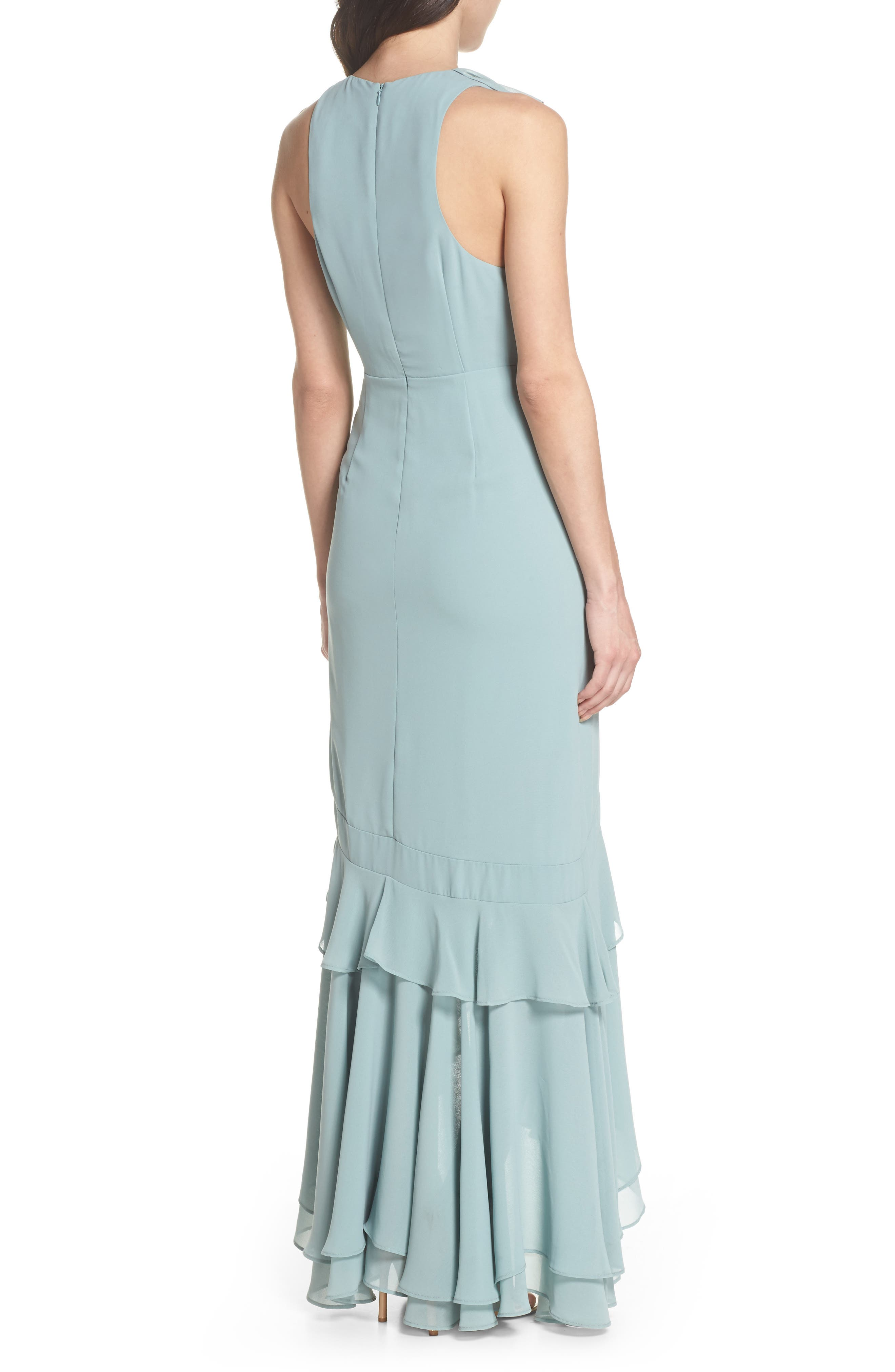 C/MEO Be About You Ruffle Gown,                             Alternate thumbnail 4, color,                             Sage