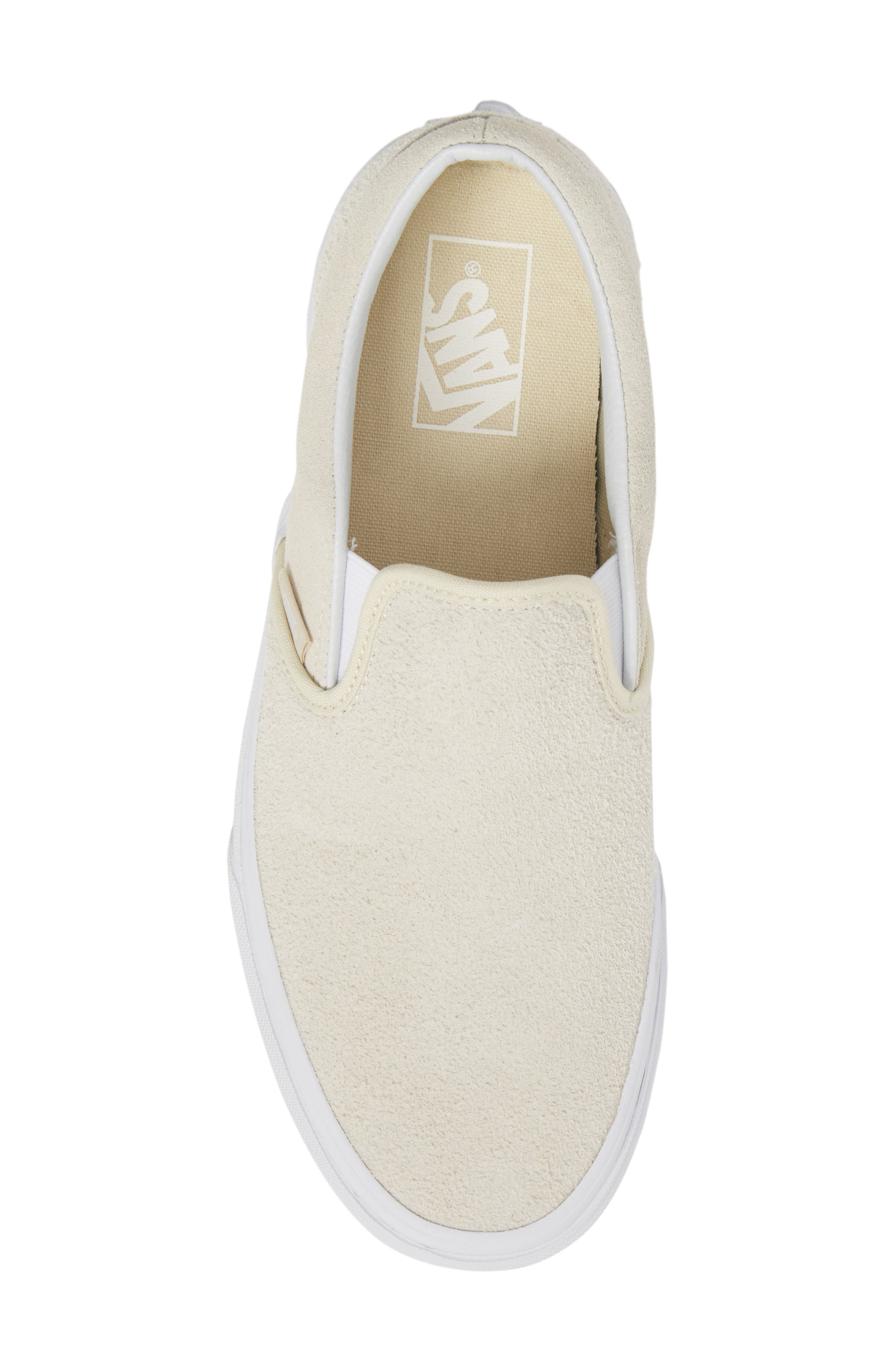 Classic Hairy Suede Slip-On Sneaker,                             Alternate thumbnail 5, color,                             Turtledove Leather