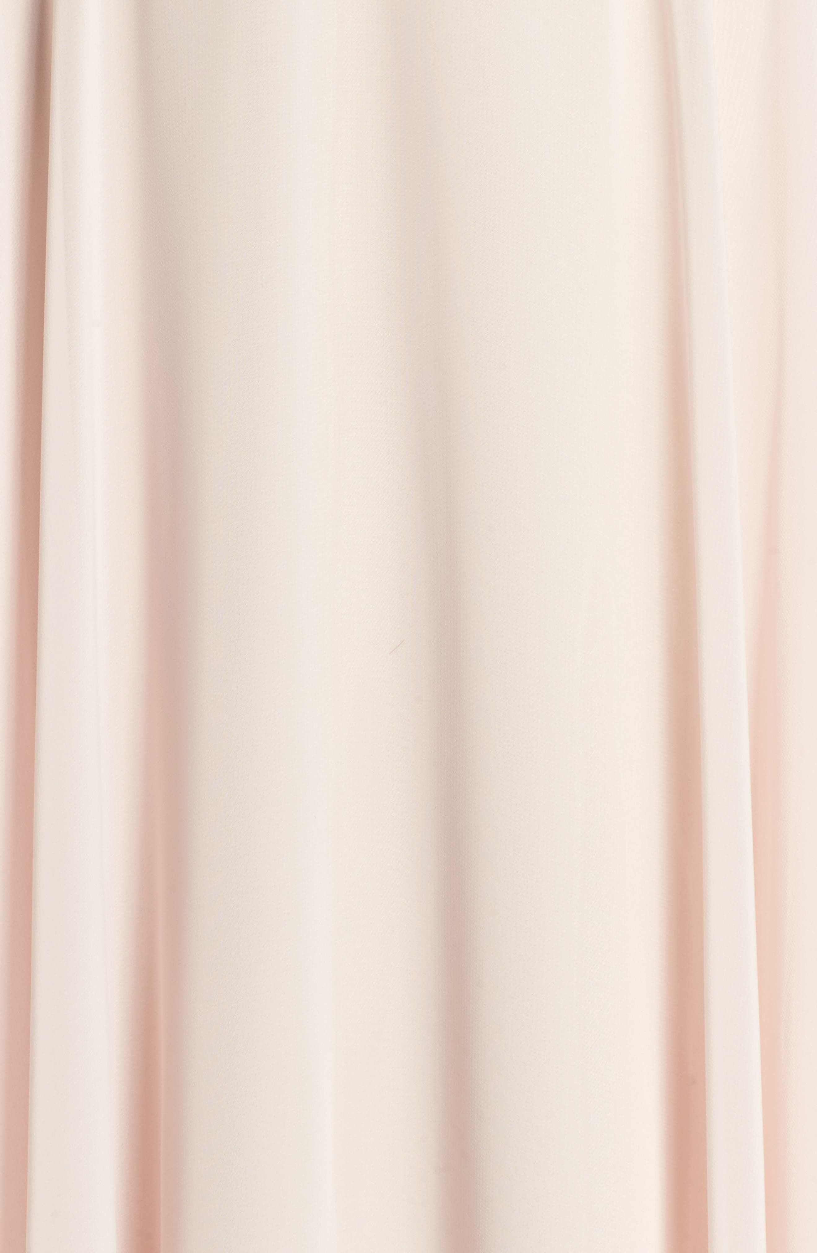 Embroidered Chiffon Halter Dress,                             Alternate thumbnail 5, color,                             Blush/ Gold