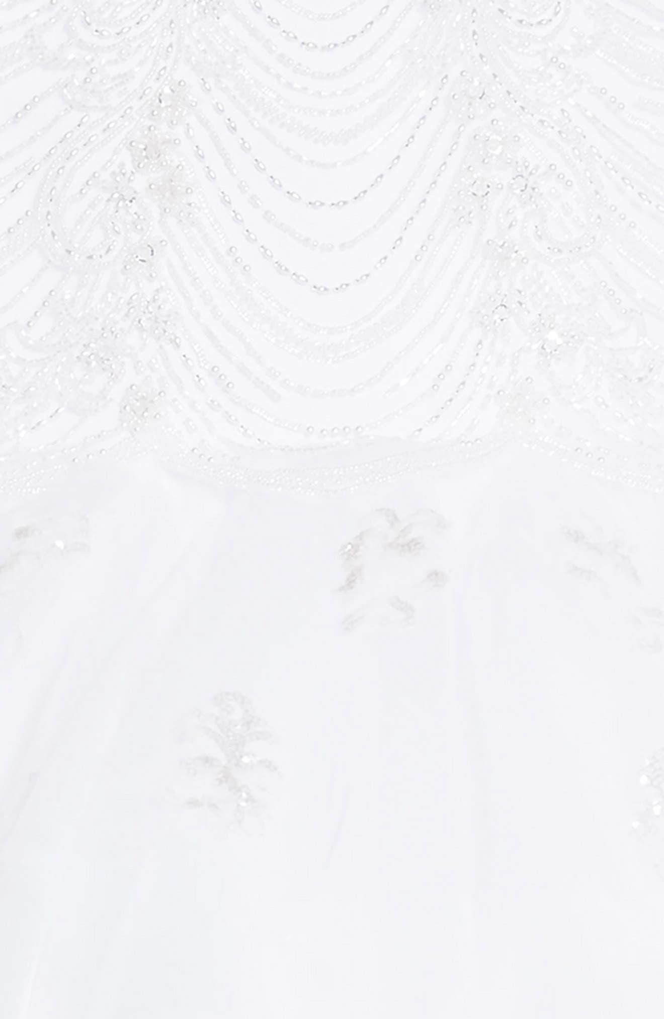 Alternate Image 3  - Joan Calabrese for Mon Cheri Beaded Tulle First Communion Dress (Little Girls & Big Girls)