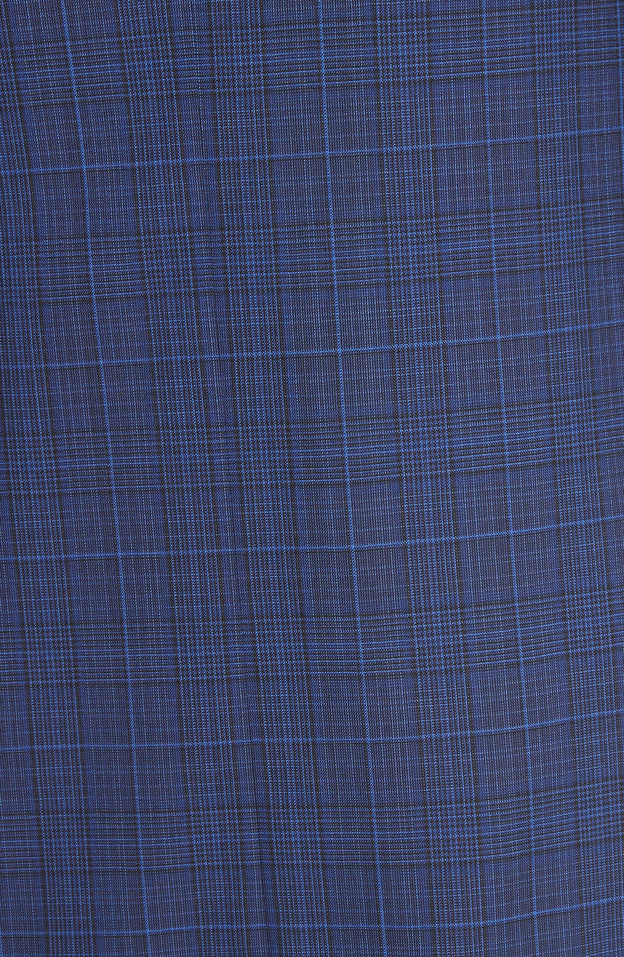Classic Fit Tonal Plaid Wool Suit,                             Alternate thumbnail 7, color,                             Blue