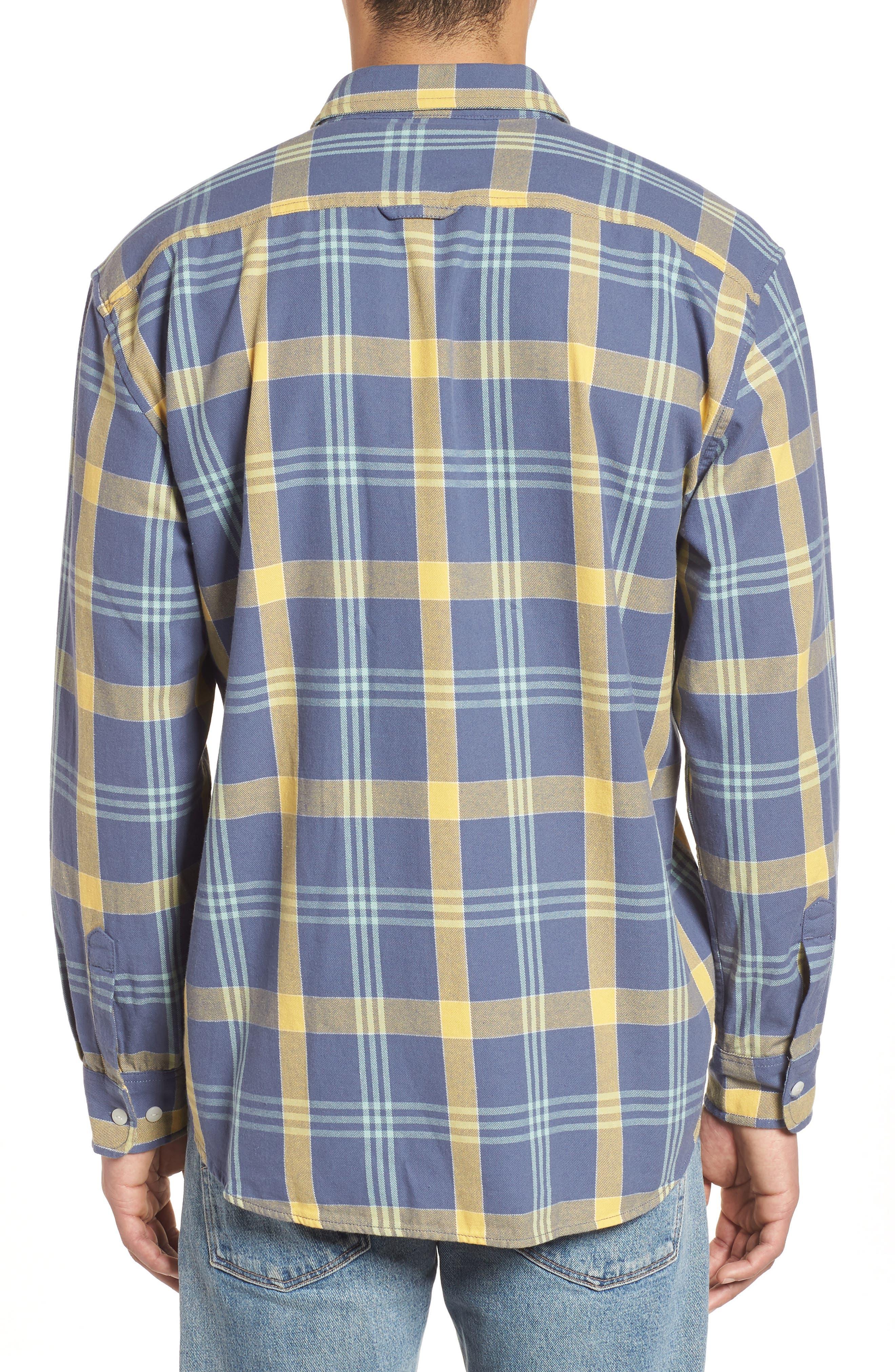 Beach Shack Twill Shirt,                             Alternate thumbnail 2, color,                             65310 Indigo/Orche Plaid