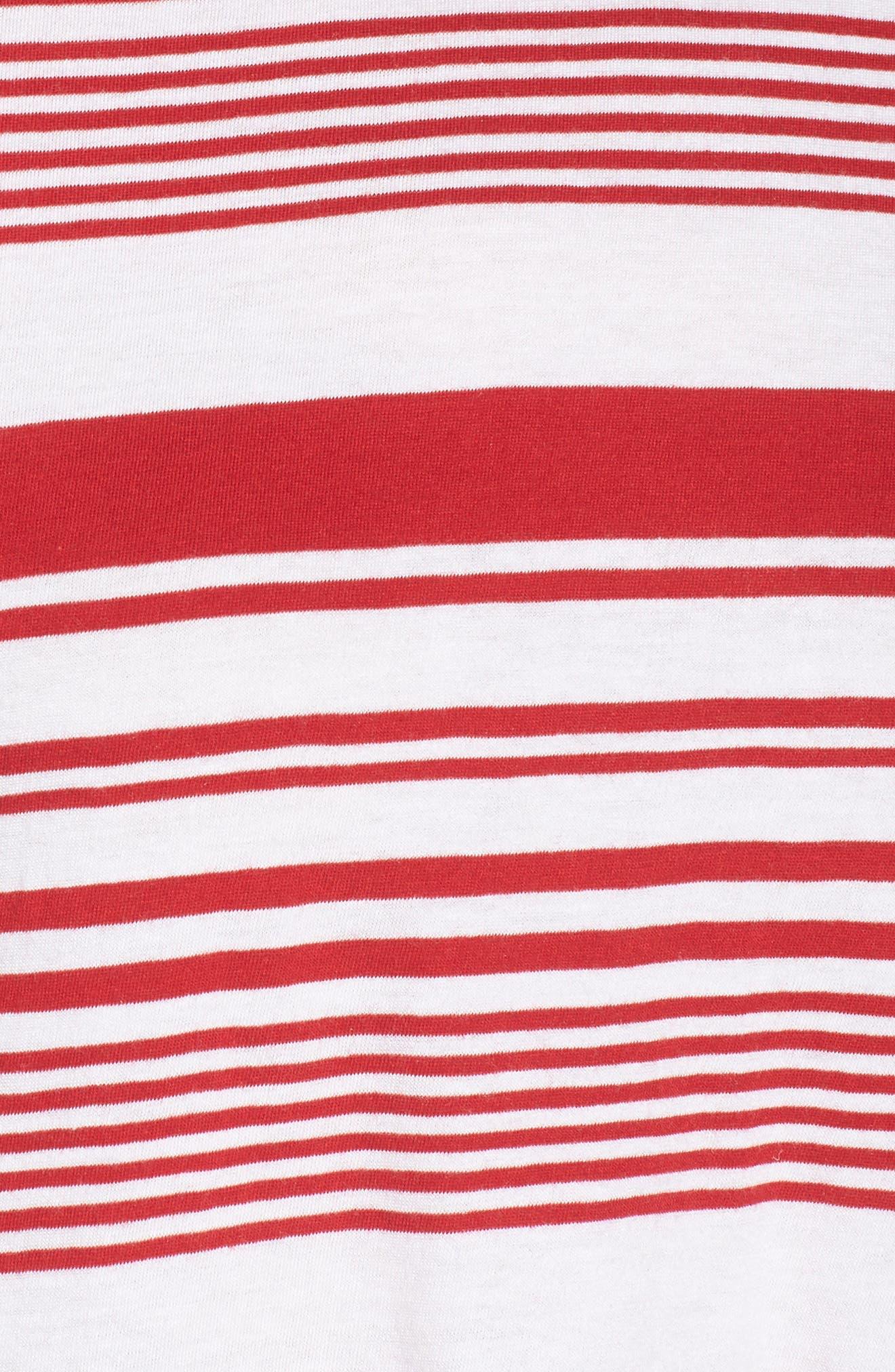 Twist Back Tee,                             Alternate thumbnail 6, color,                             Red Couture Monaco Stripe