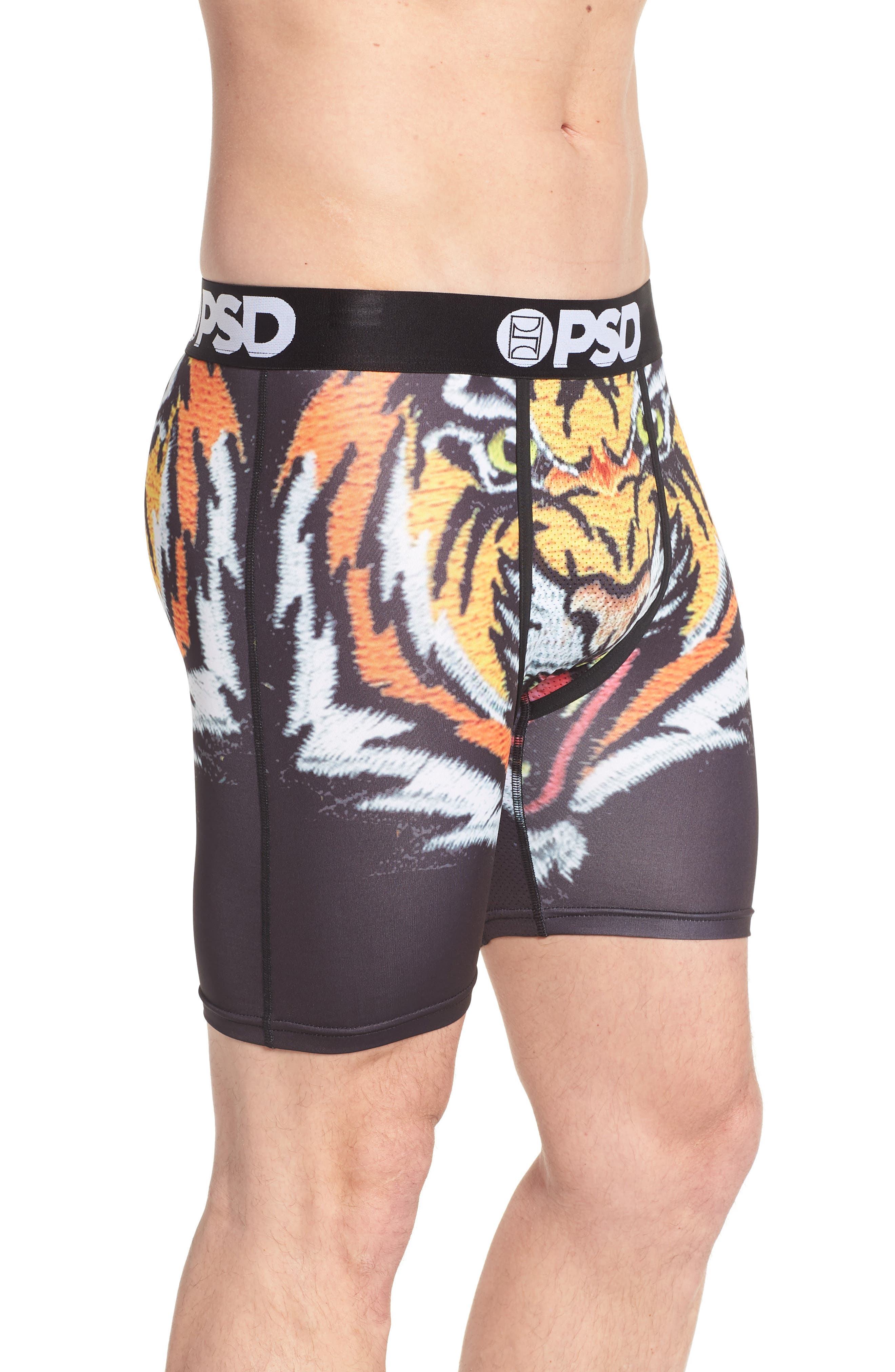 Souvenir Tiger Wings Boxer Briefs,                             Alternate thumbnail 3, color,                             Black