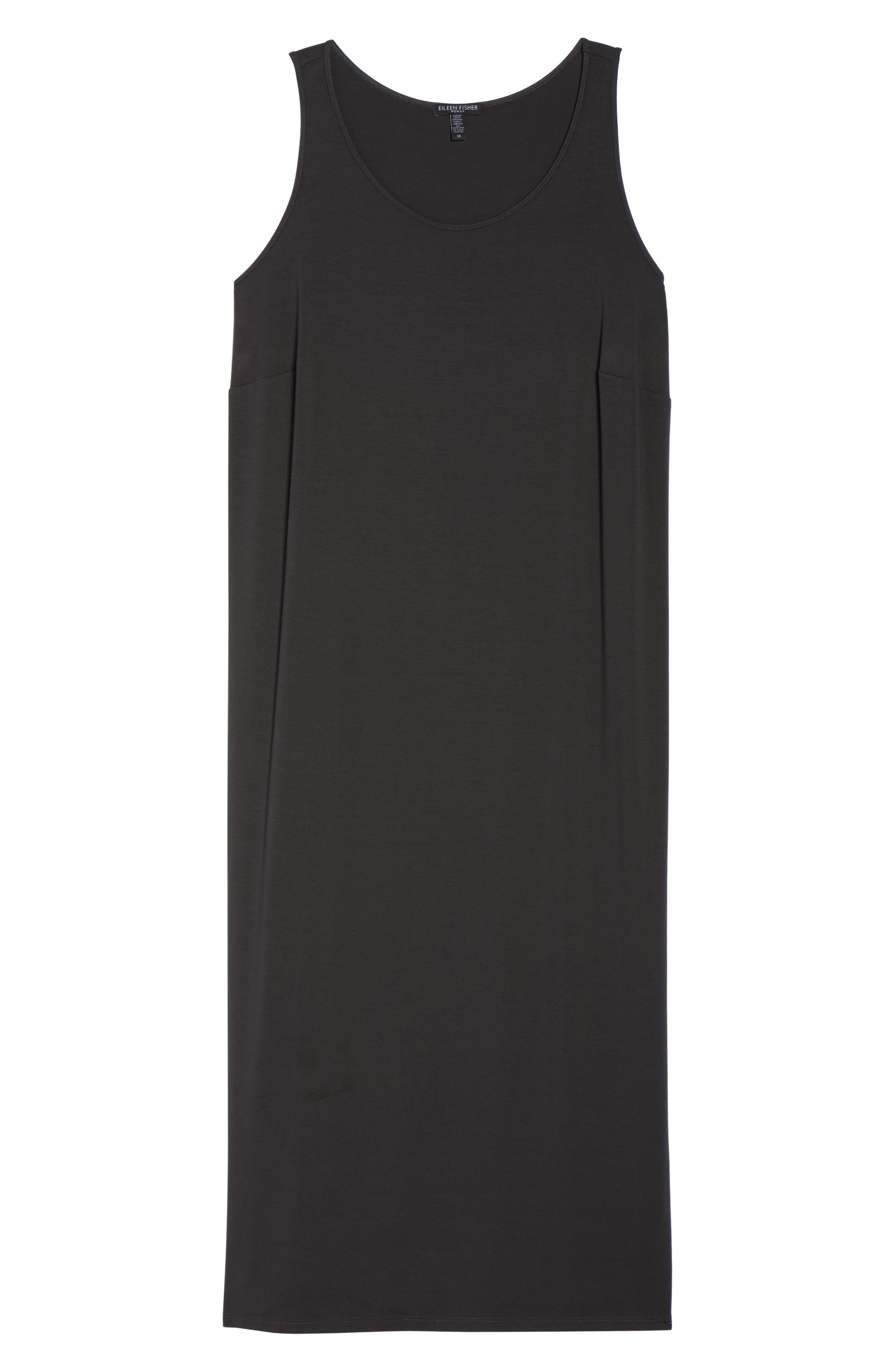 Scoop Neck Jersey Dress,                             Alternate thumbnail 6, color,                             Graphite