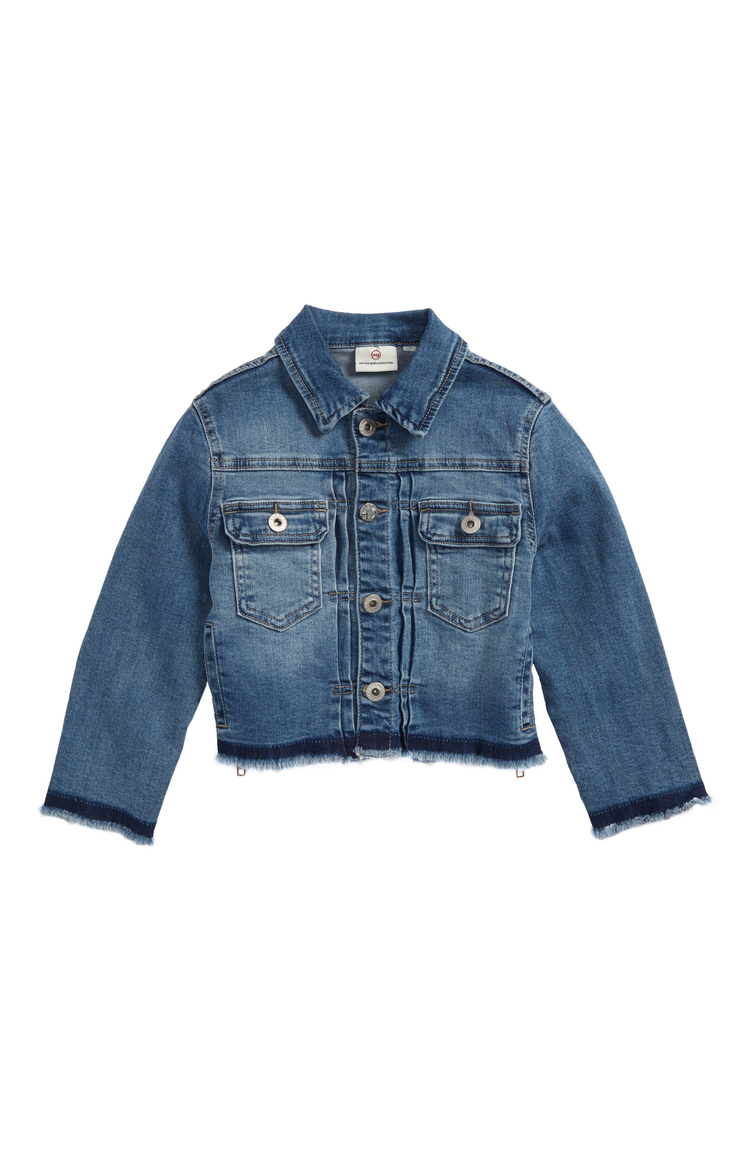 ag adriano goldscmhied kids Daize Denim Jacket,                         Main,                         color, Jewel Blue