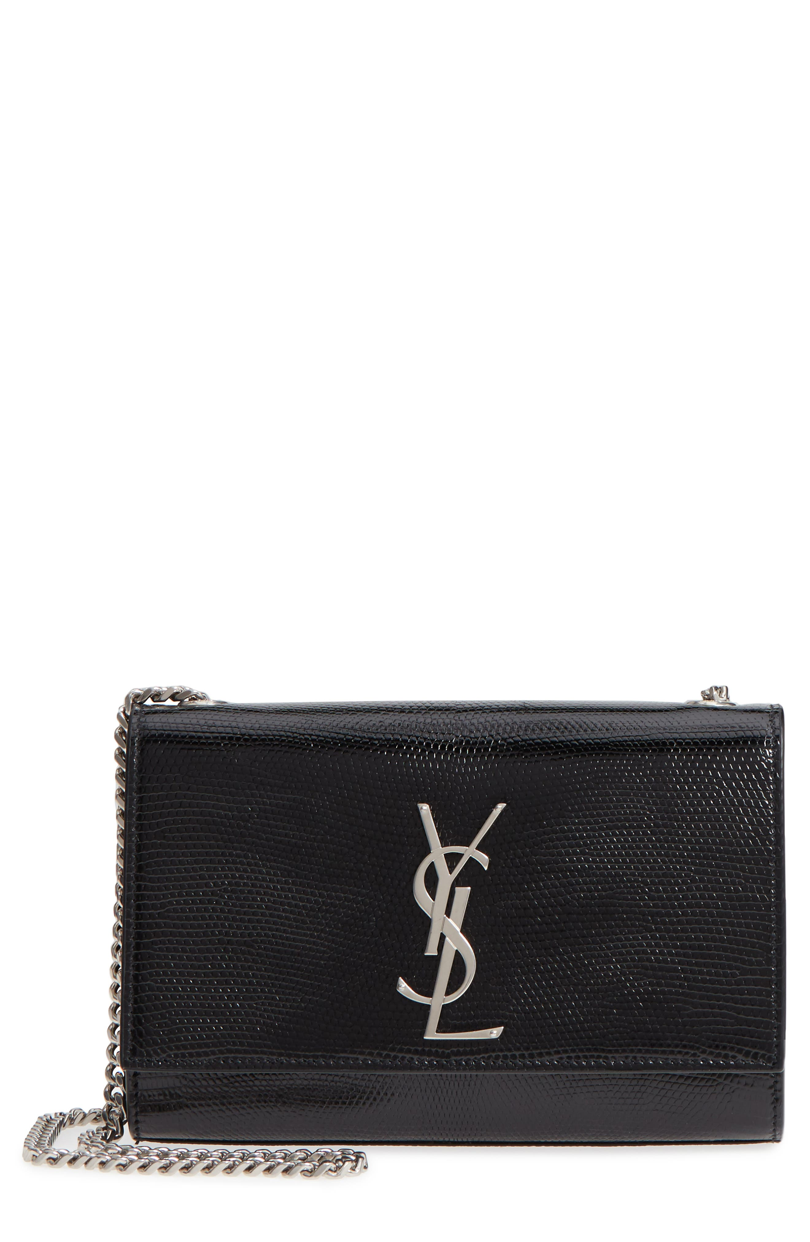 Saint Laurent Small Kate Lizard Leather Crossbody Bag