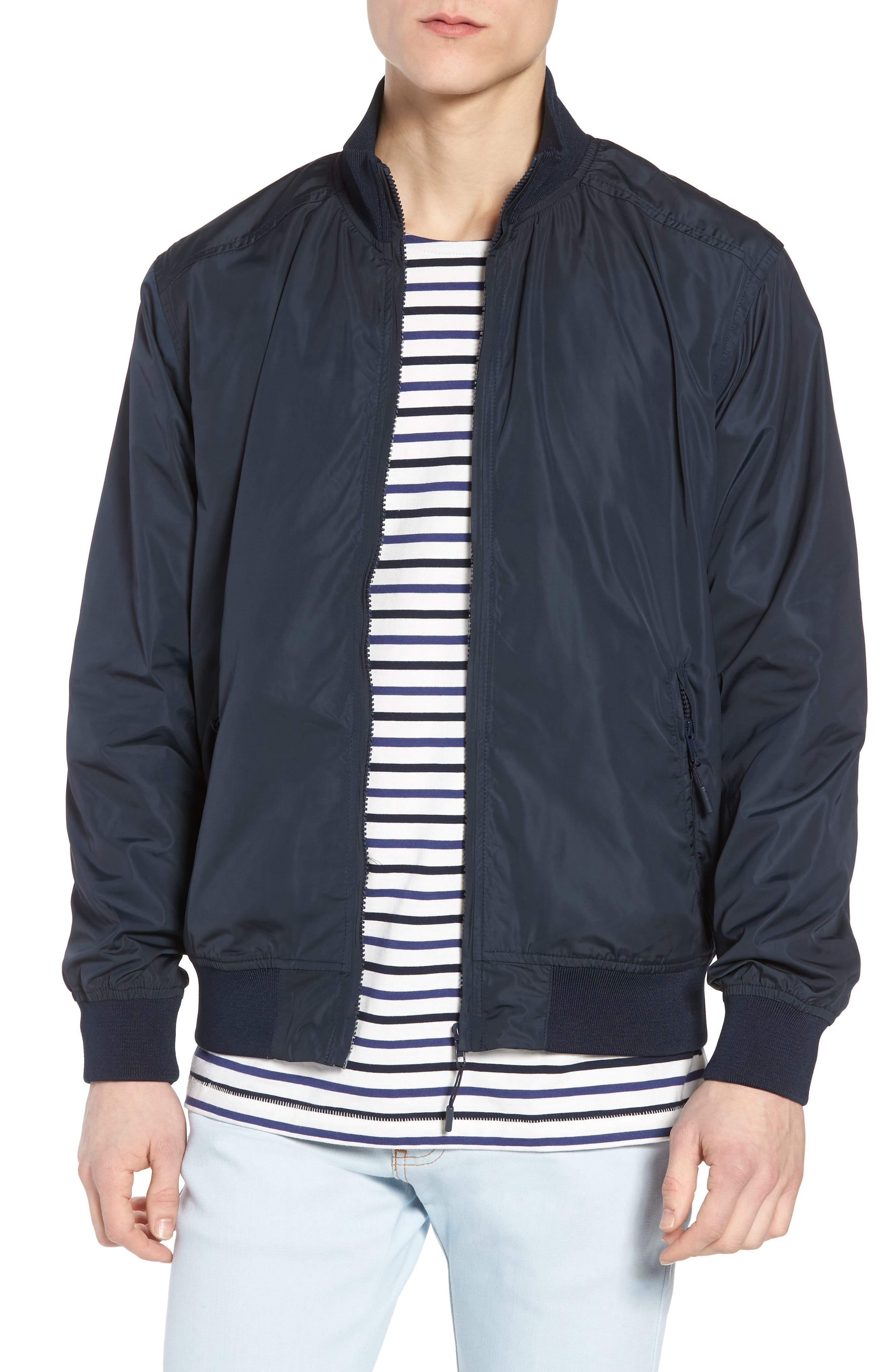 Classic Fit Track Jacket,                         Main,                         color, Dark Blue
