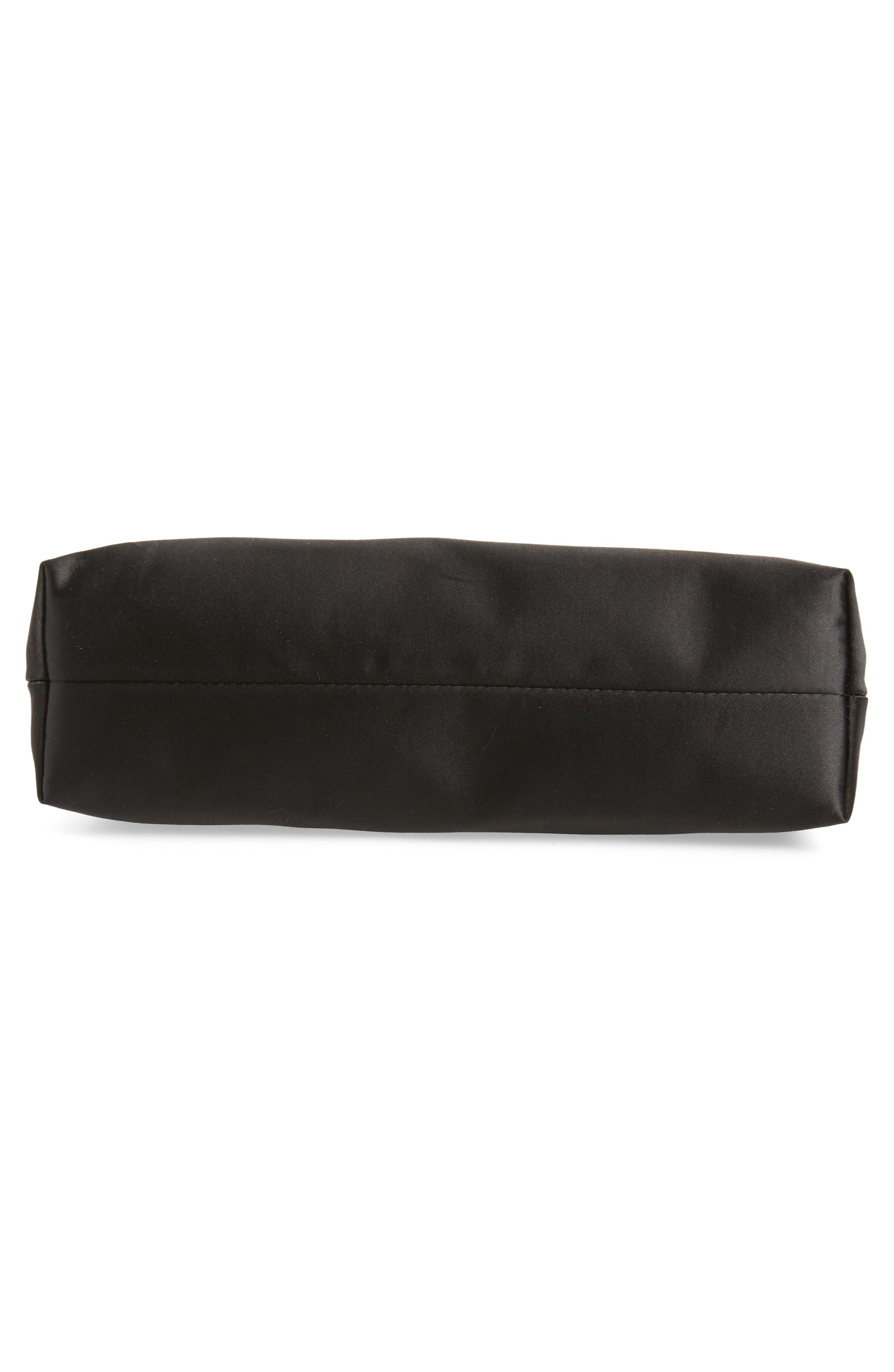 Georgaa Bow Clasp Evening Bag,                             Alternate thumbnail 6, color,                             Black