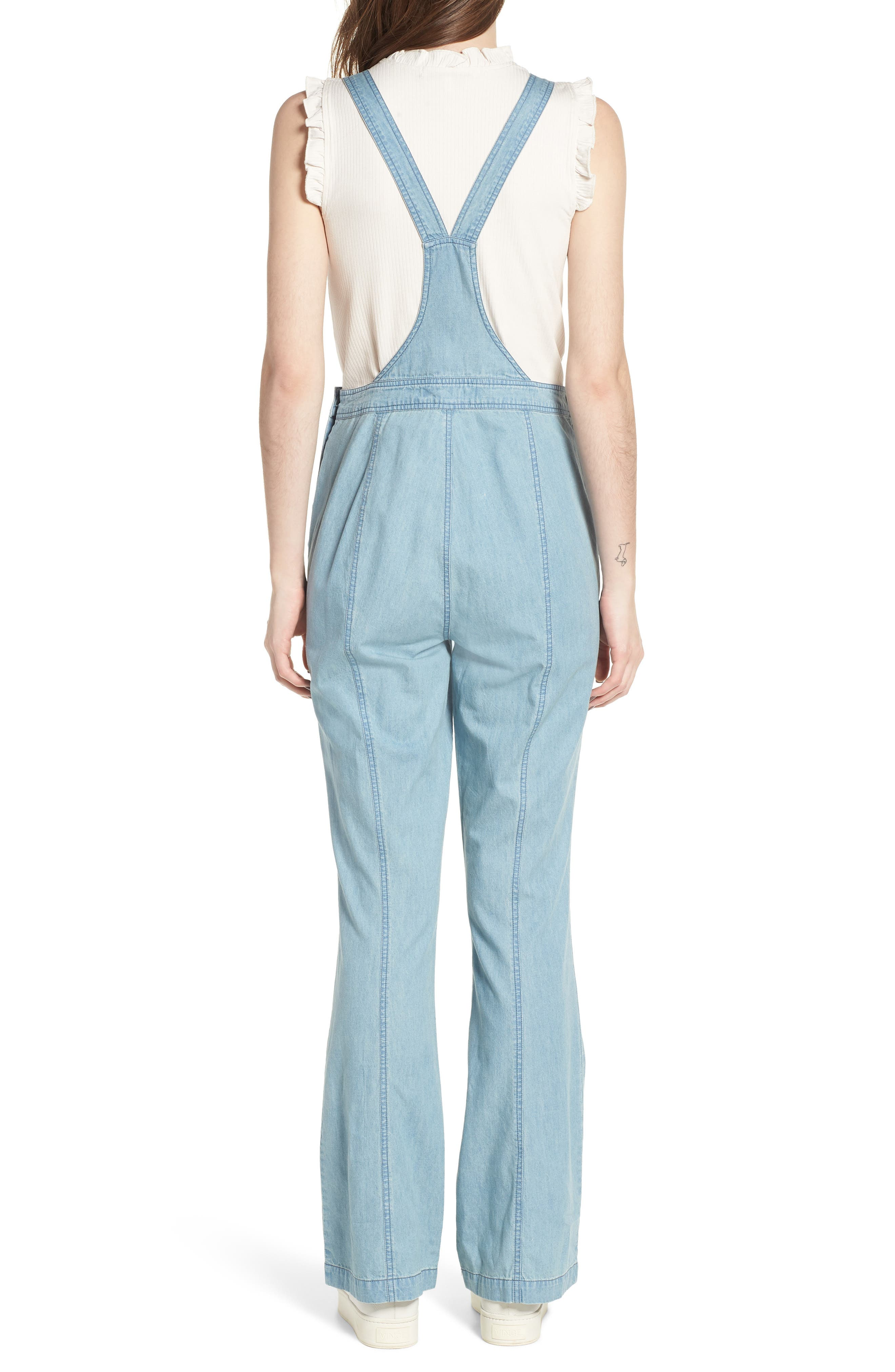 Meliani Denim Overalls,                             Alternate thumbnail 2, color,                             Denim