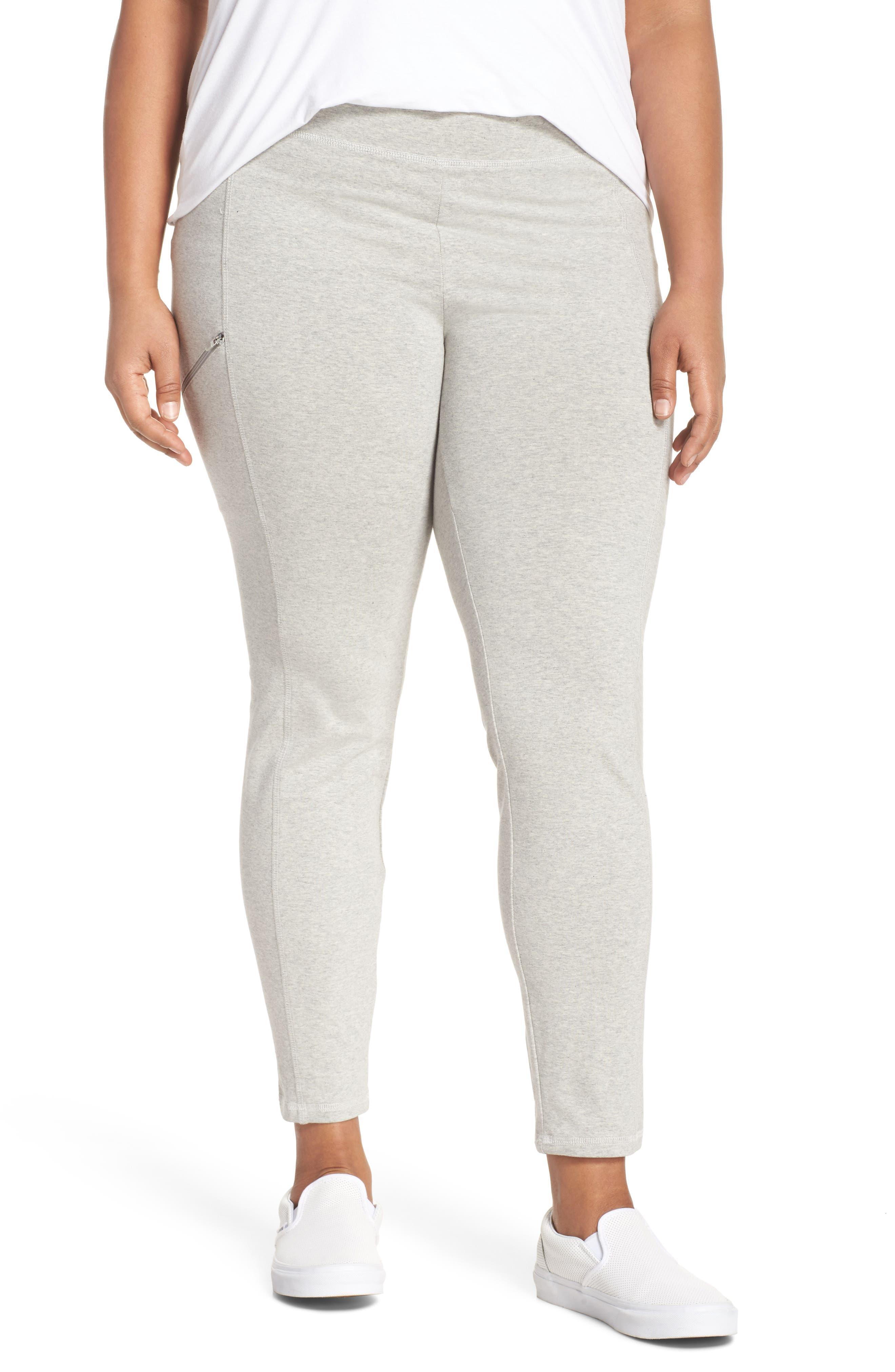 Stretch Organic Cotton Skinny Pants,                         Main,                         color, Dark Pearl