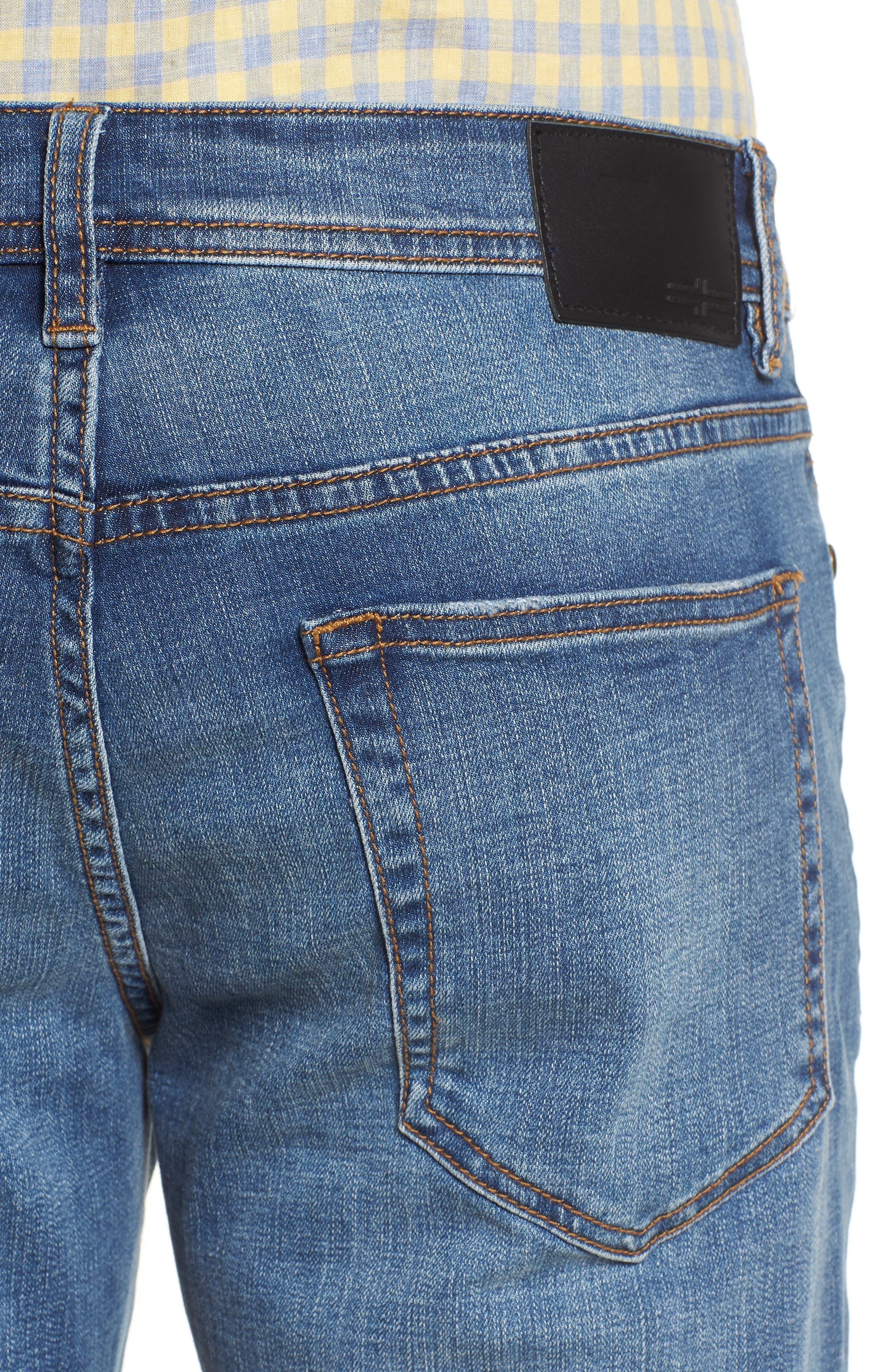 Jeans Co. Regent Relaxed Straight Leg Jeans,                             Alternate thumbnail 4, color,                             Highlander Mid