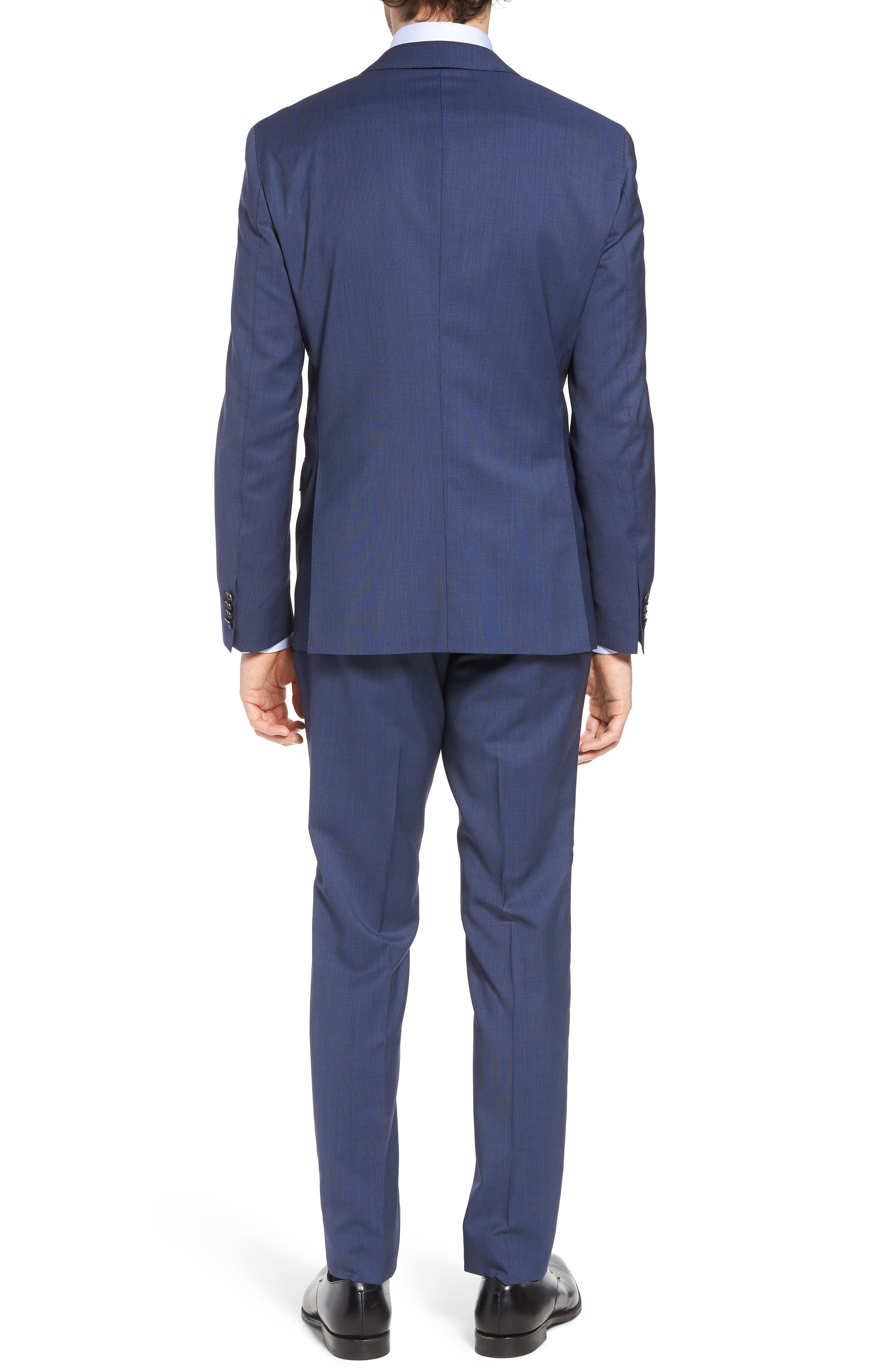 Reyno/Wave Extra Trim Fit Solid Wool Suit,                             Alternate thumbnail 2, color,                             Medium Blue