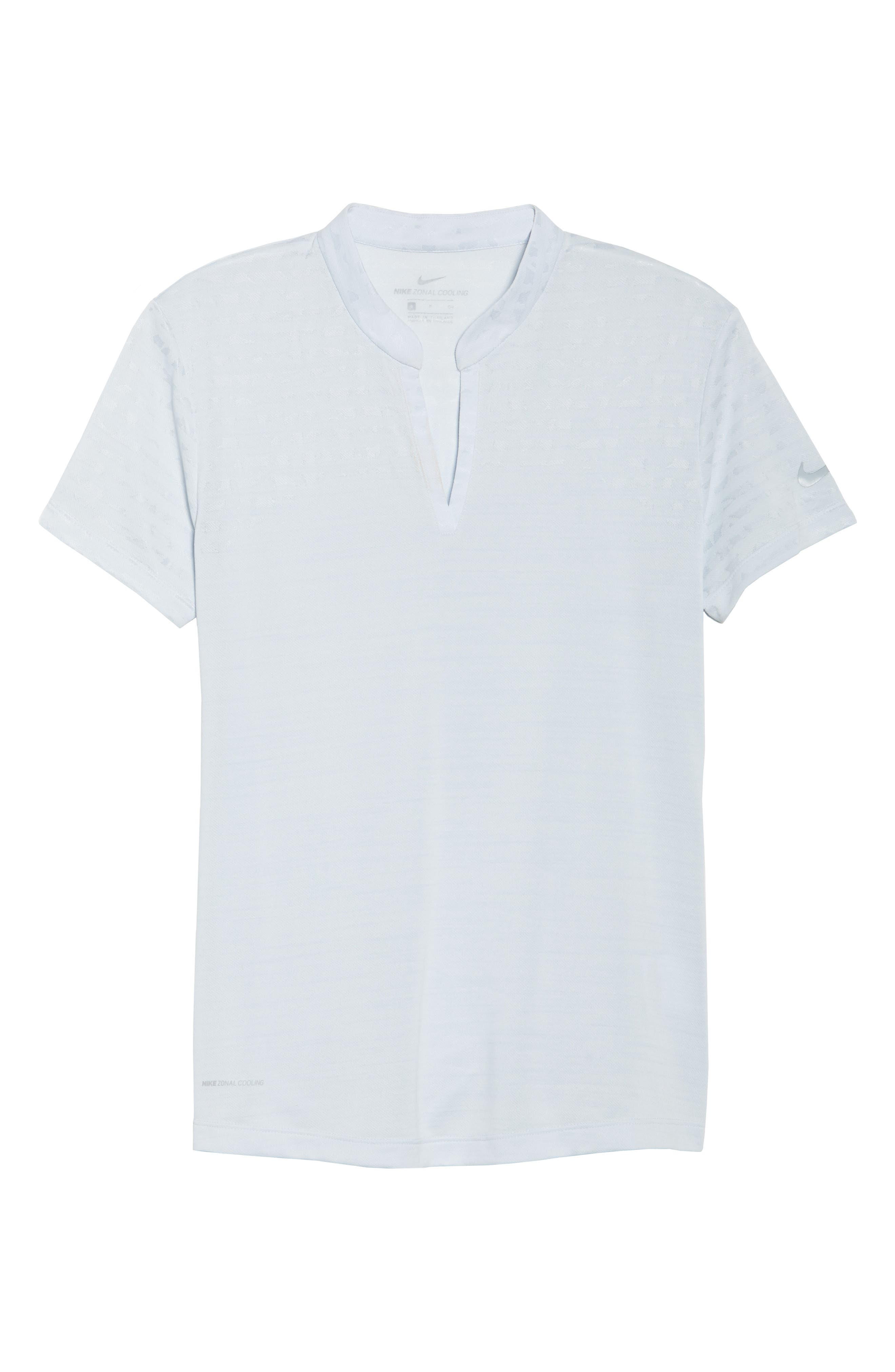 Zonal Cooling Golf Polo,                             Alternate thumbnail 7, color,                             Pure Platinum/ Silver