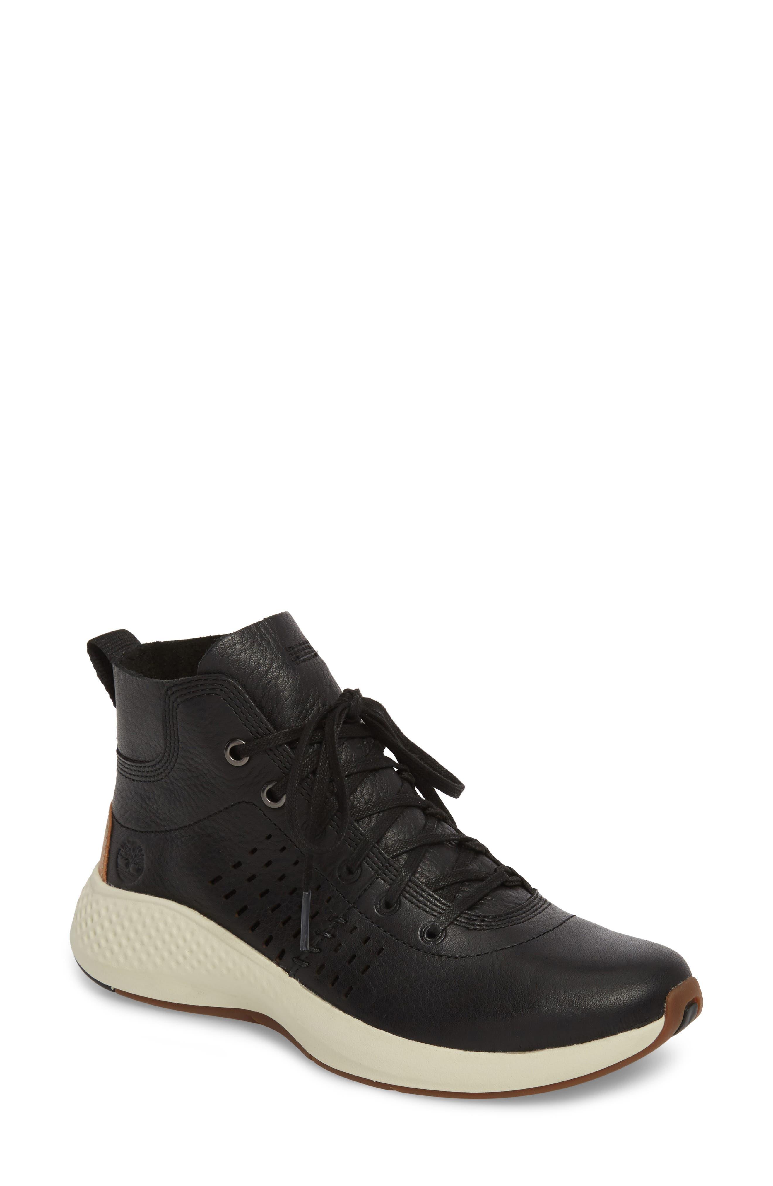 Flyroam Go Chukka Bootie,                         Main,                         color, Black Leather