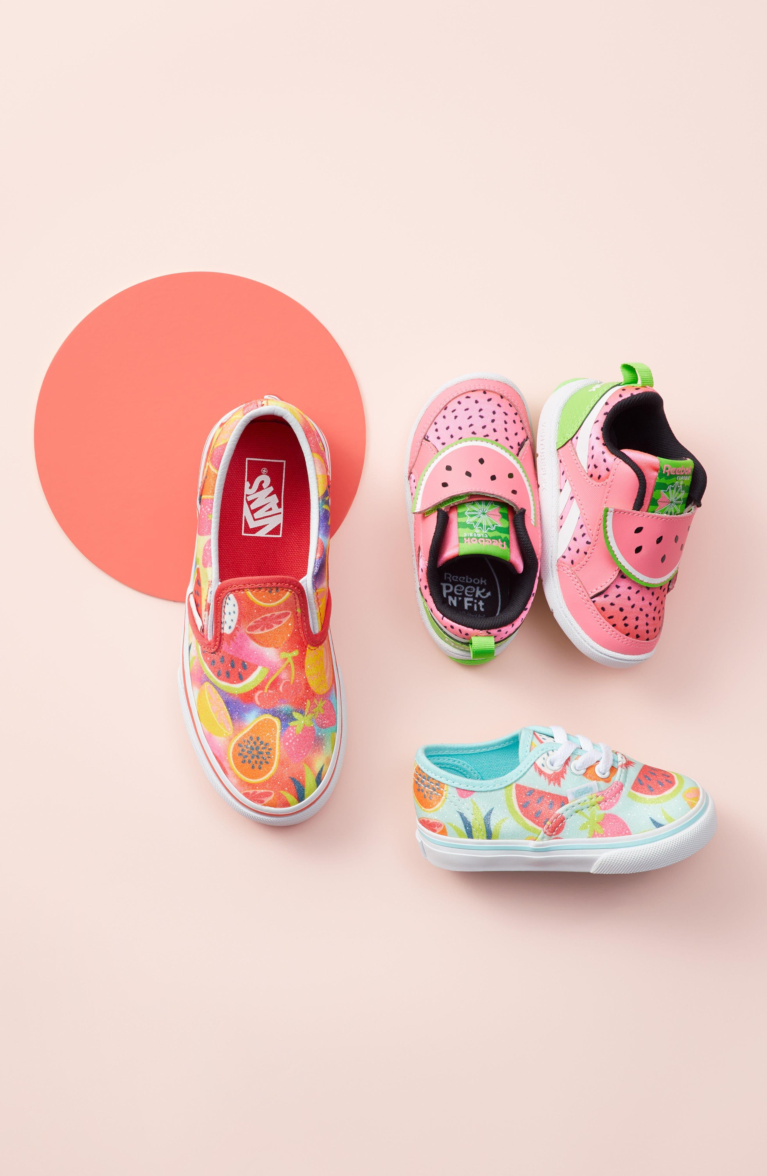 Classic Glitter Fruit Slip-On Sneaker,                             Alternate thumbnail 7, color,