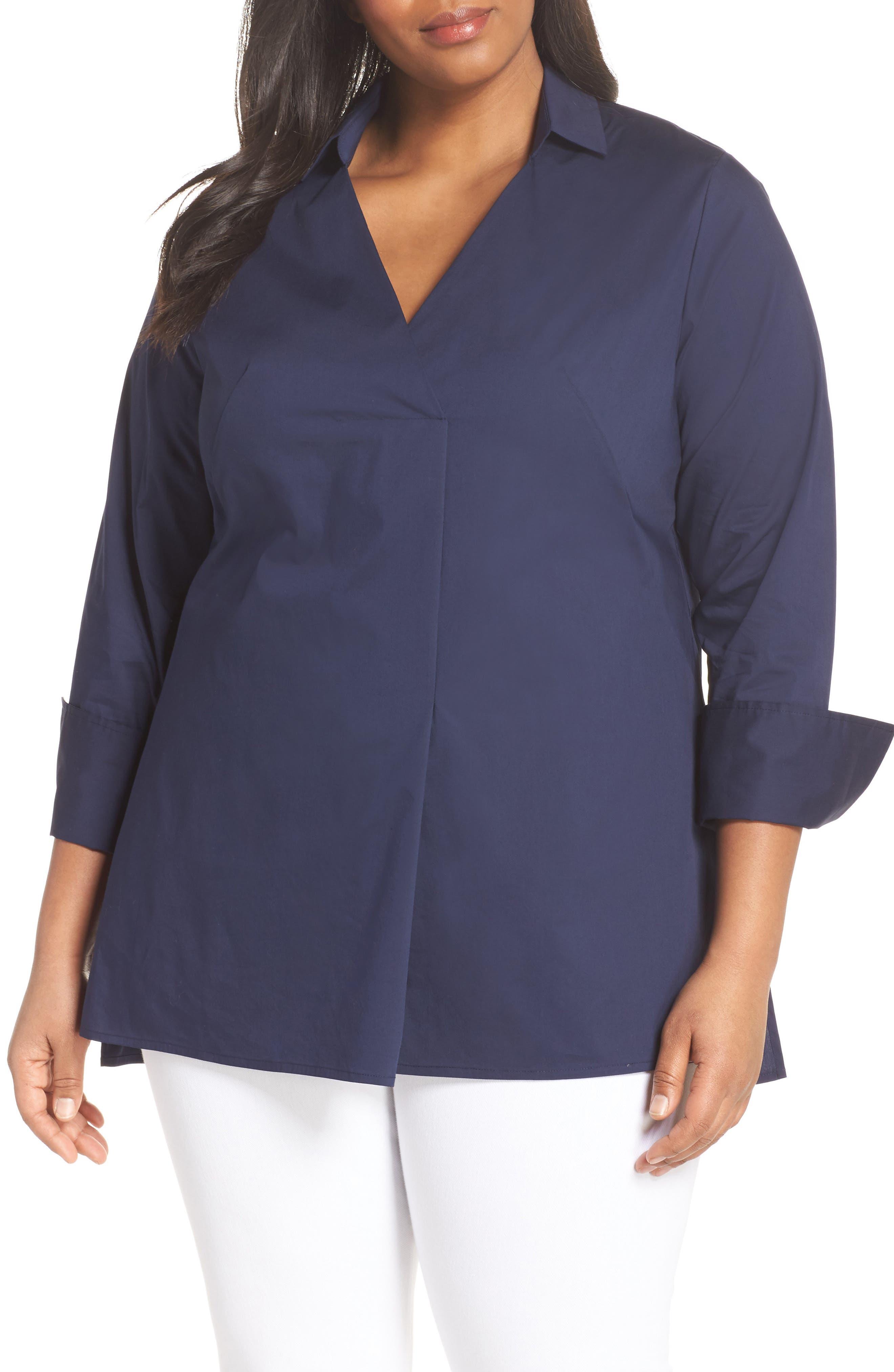 Sejour Long Sleeve Tunic (Plus Size)