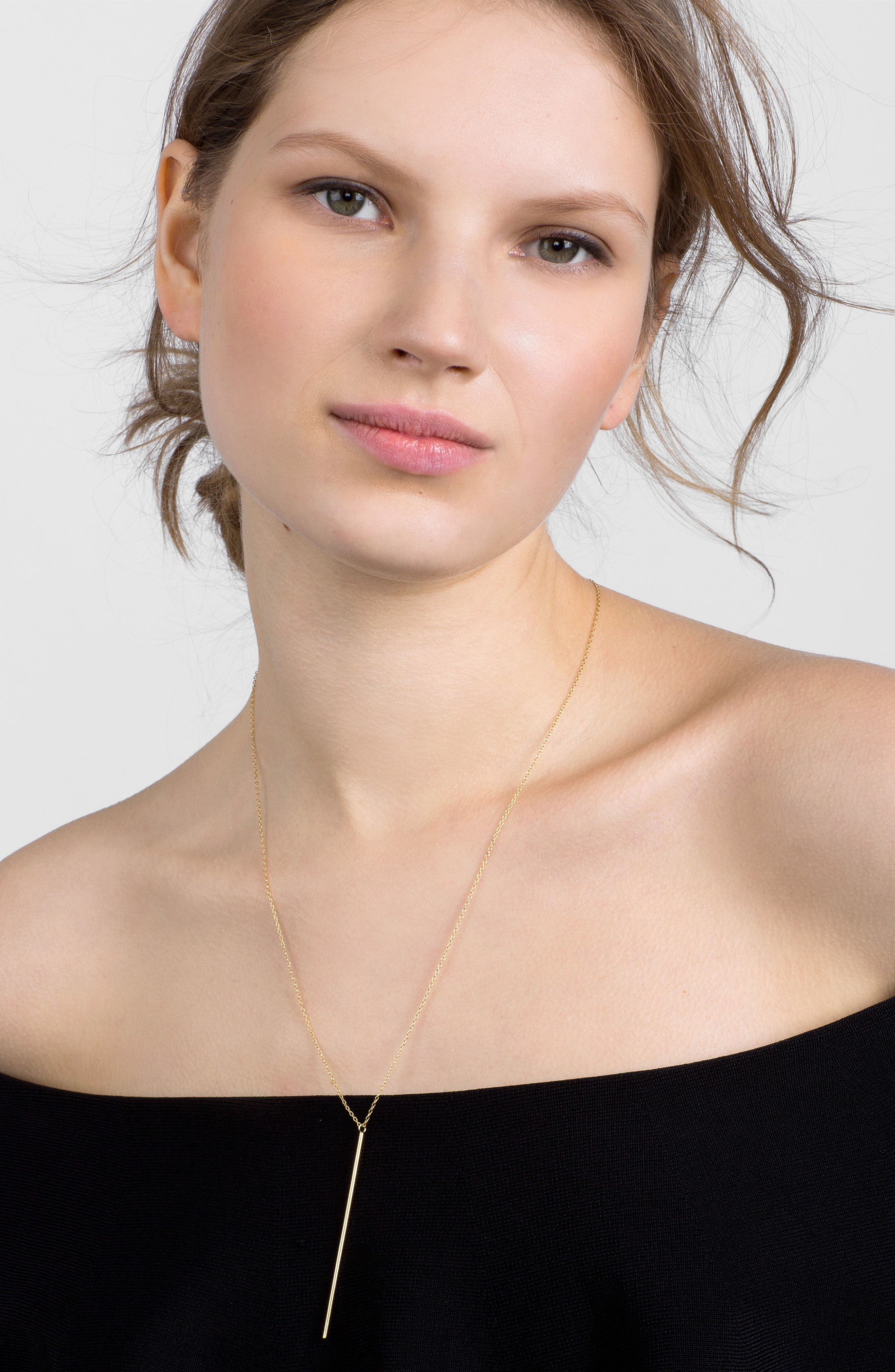 Mara Everyday Fine Layered Necklace,                             Alternate thumbnail 2, color,                             Gold