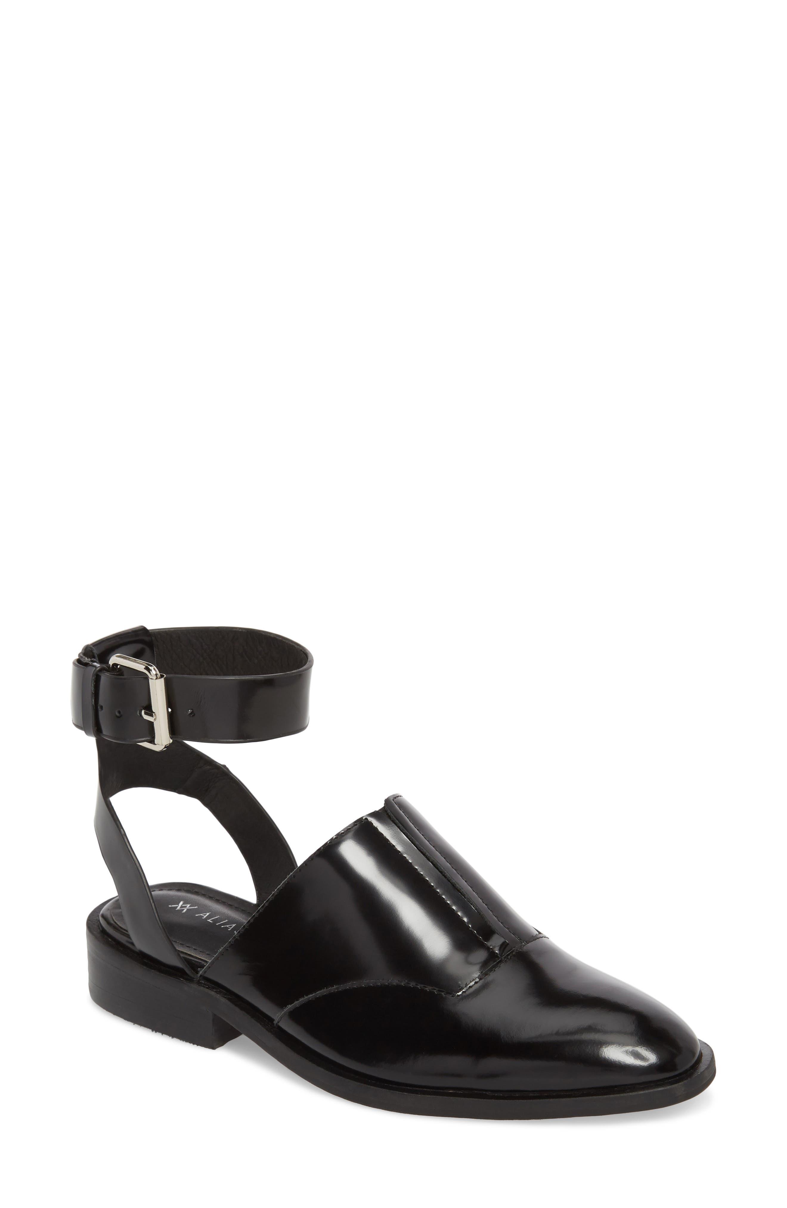 Nakita Sandal,                             Main thumbnail 1, color,                             Black Box Leather