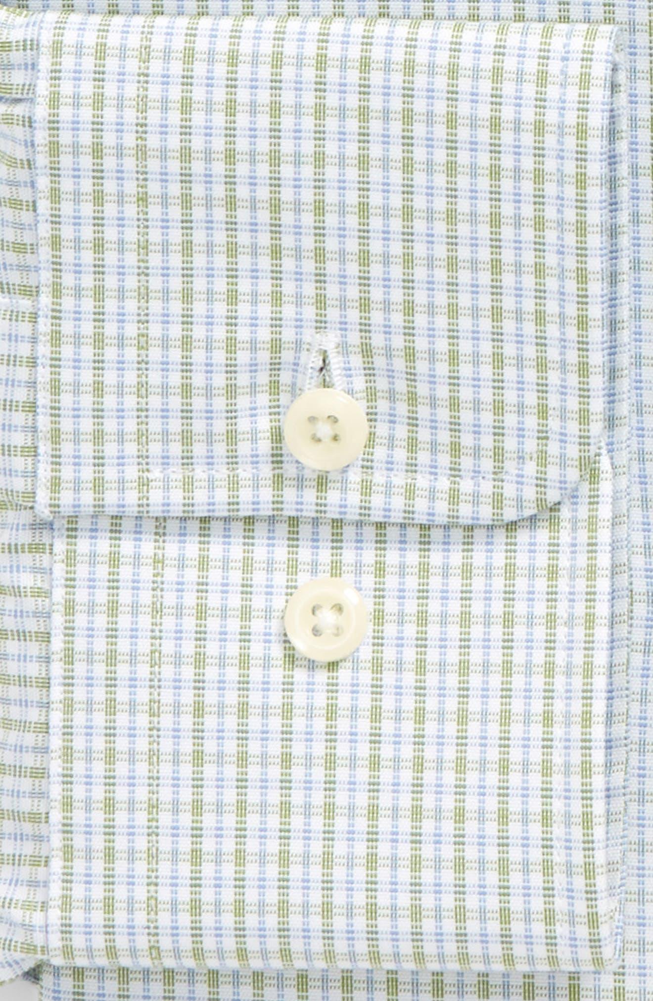 Regular Fit Check Dress Shirt,                             Alternate thumbnail 2, color,                             Grass