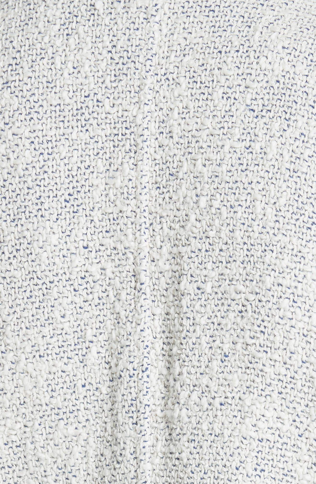 'Agnette' Tweed Jacket,                             Alternate thumbnail 5, color,                             White/ Blue