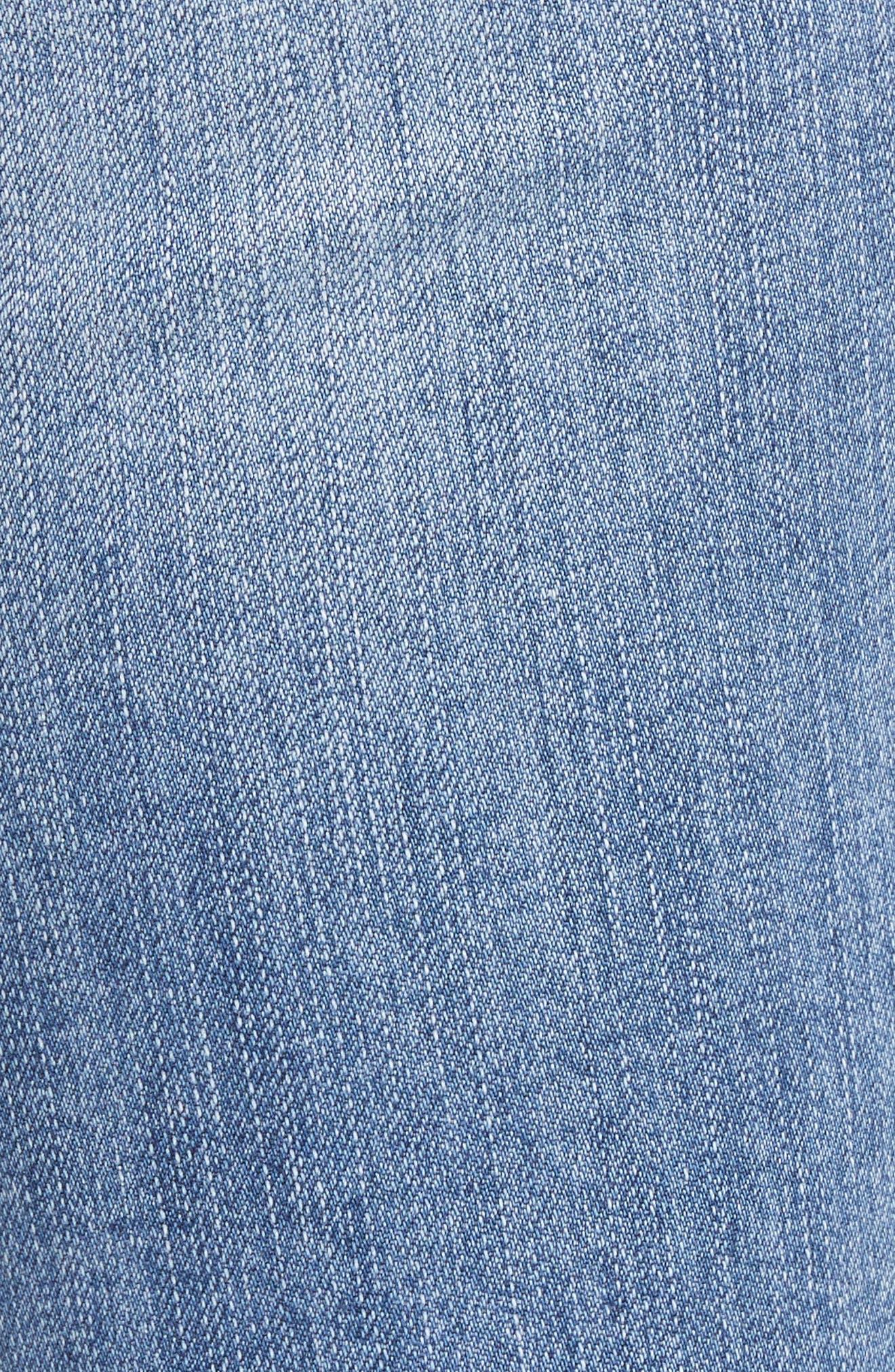 Reese Pearl Detail Raw Edge Jeans,                             Alternate thumbnail 5, color,                             Assess W/ Medium Base Wash