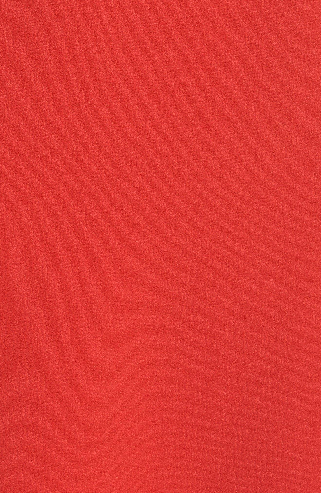 Entice Strapless Midi Dress,                             Alternate thumbnail 5, color,                             Red
