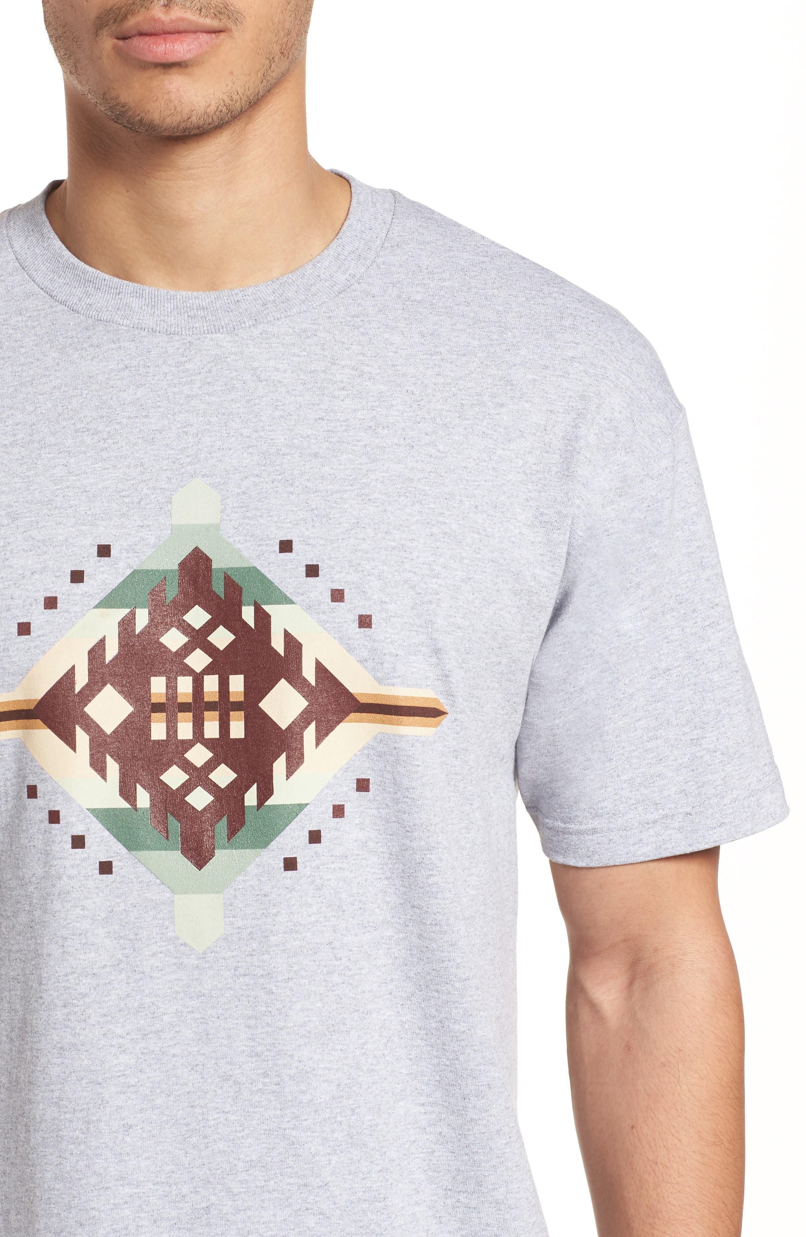Crewneck T-Shirt,                             Alternate thumbnail 4, color,                             Gray Mesquite Canyon