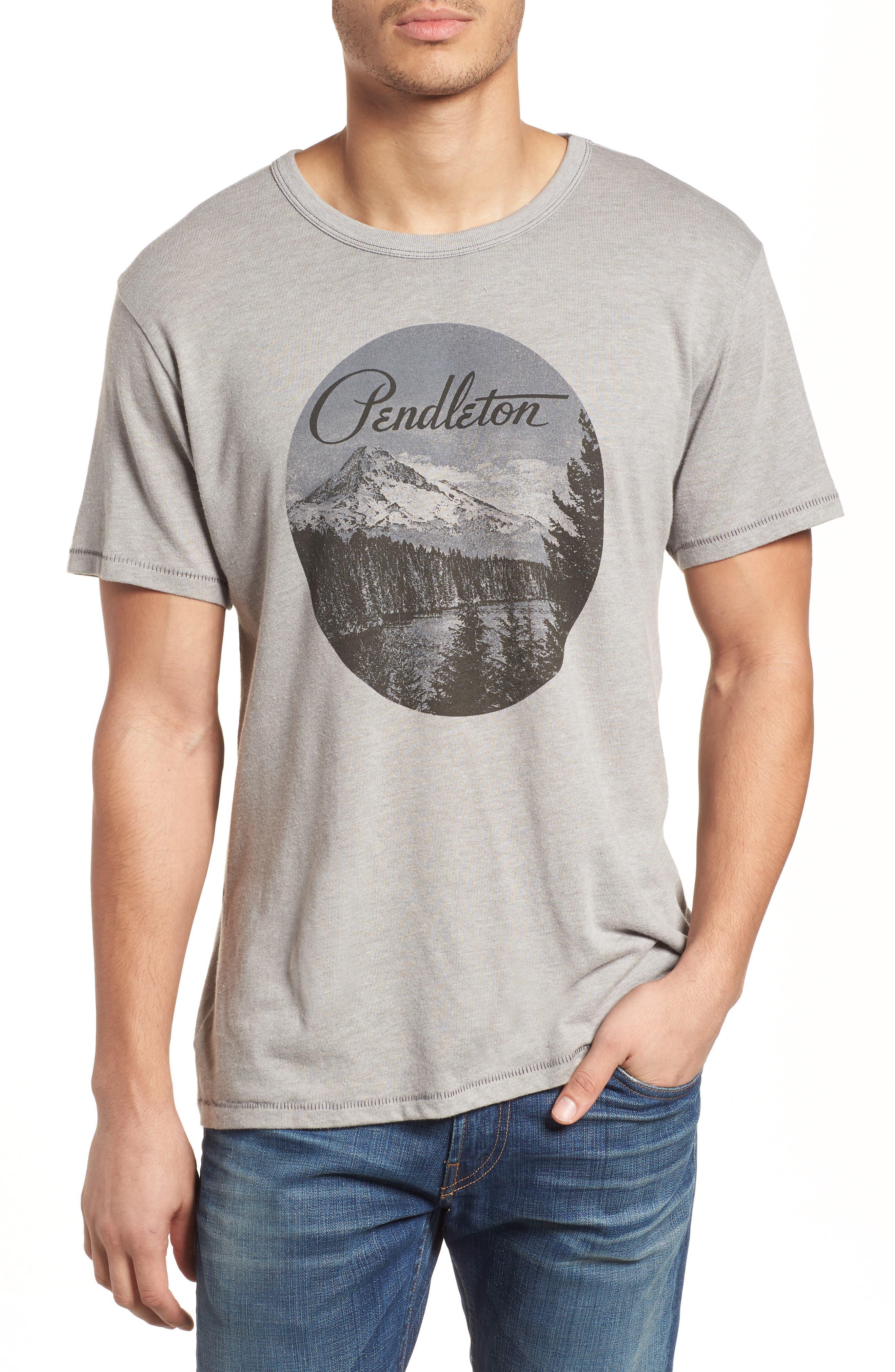 Mt. Hood Crewneck T-Shirt,                         Main,                         color, 61222 Smoked Grey
