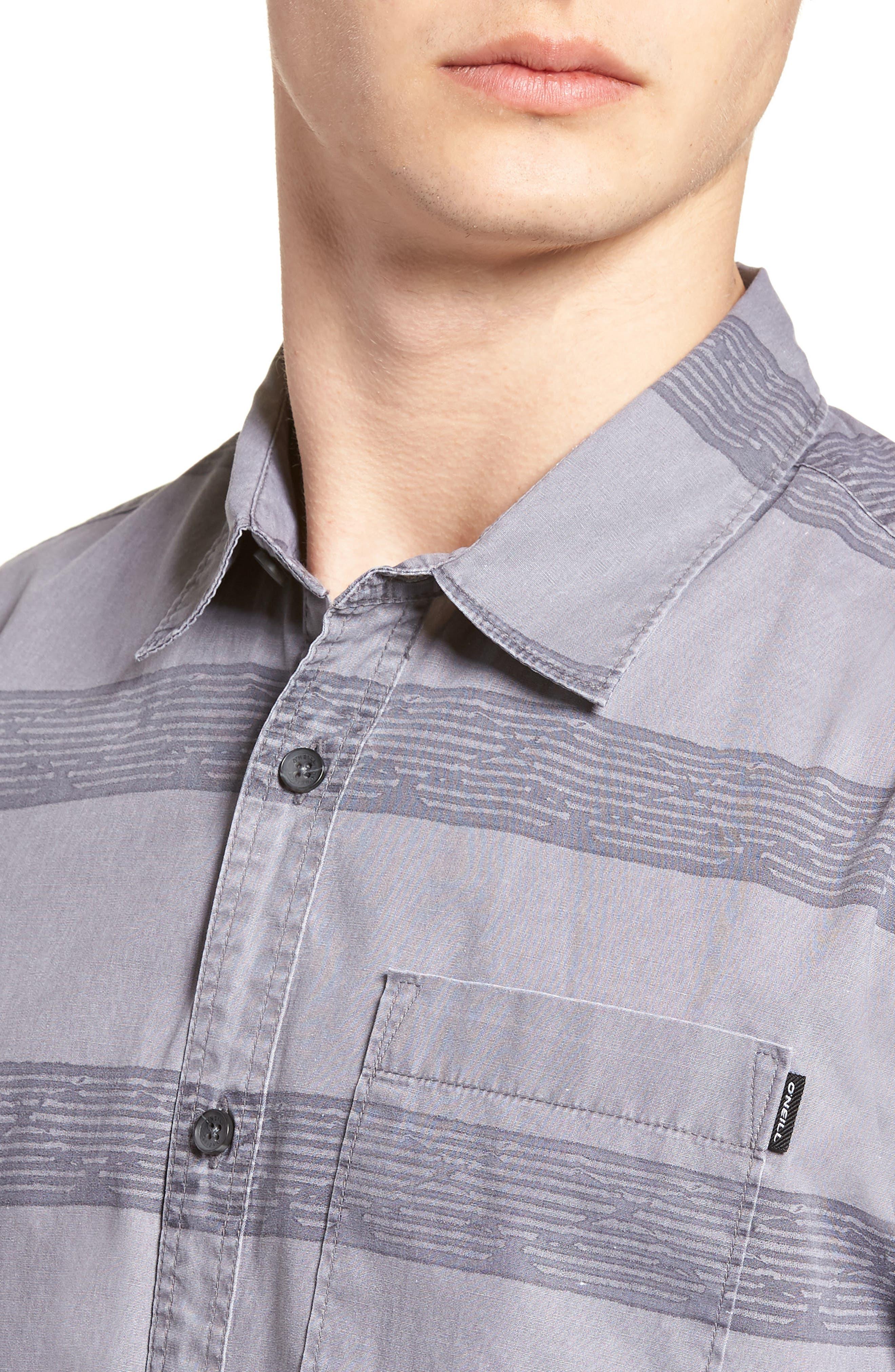Wagner Woven Shirt,                             Alternate thumbnail 2, color,                             Fog