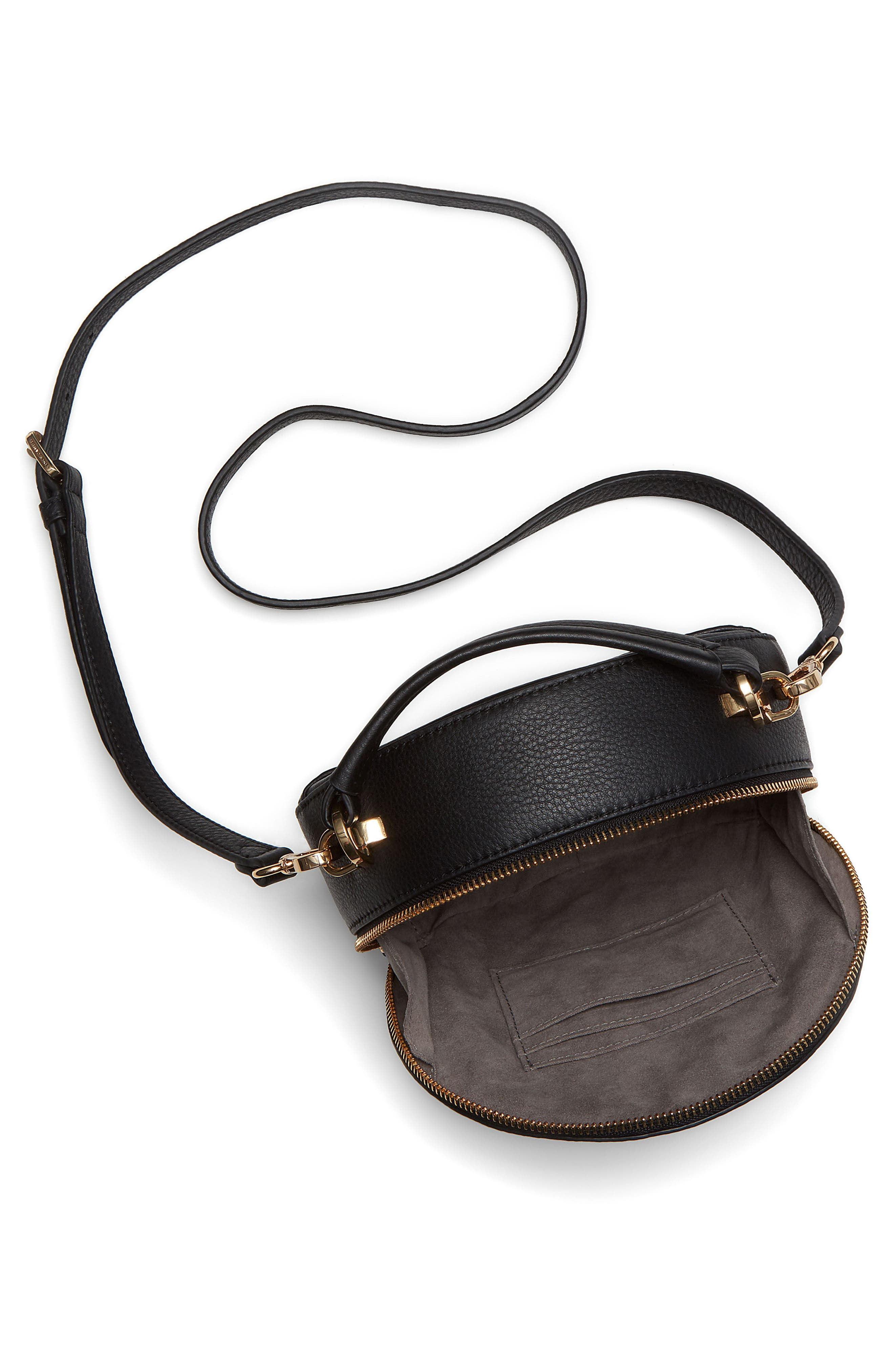 Bray Leather Crossbody Bag,                             Alternate thumbnail 3, color,                             Black