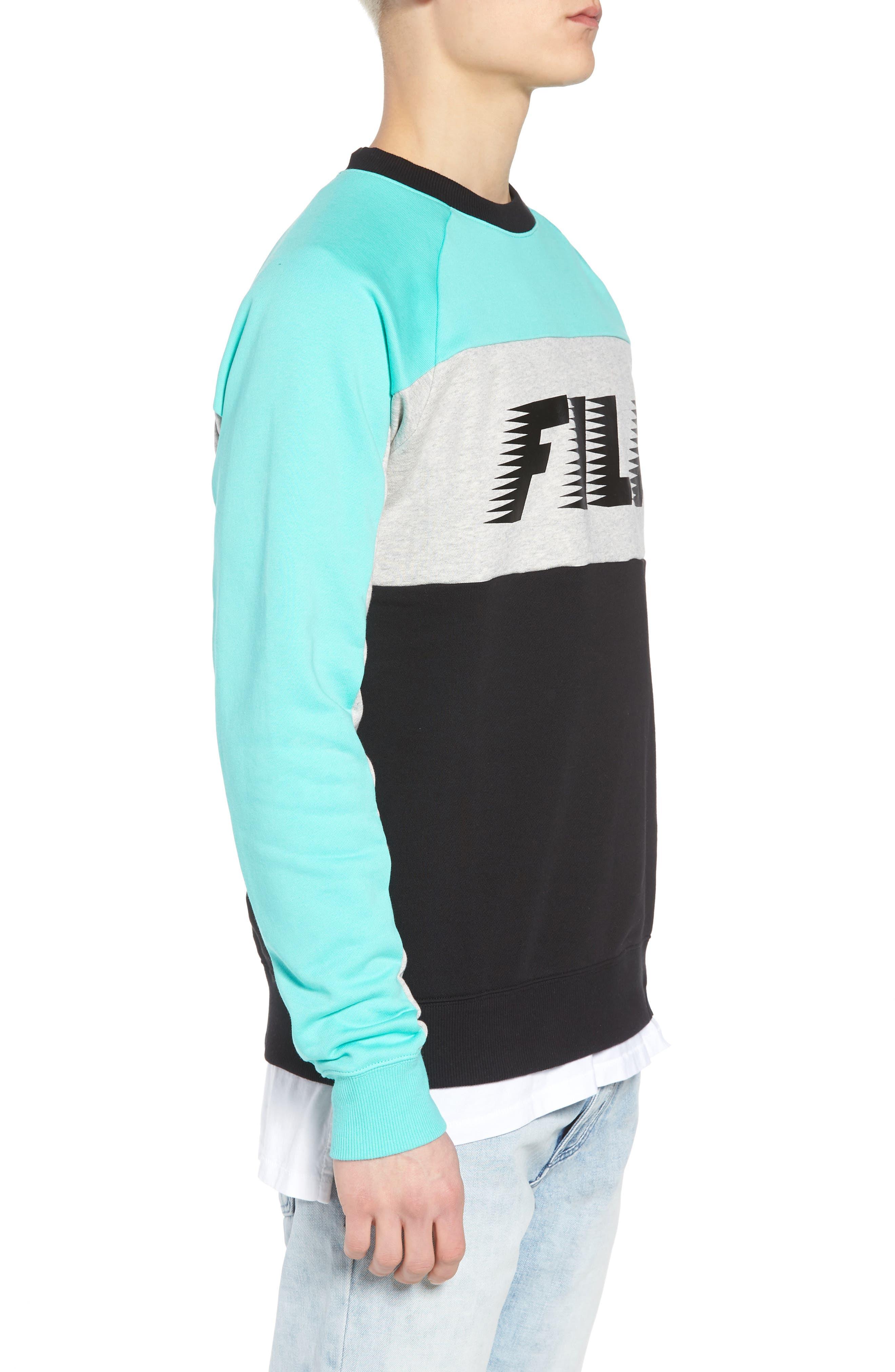 Layton Sweatshirt,                             Alternate thumbnail 3, color,                             Black/ Cockatoo/ Grey Marl