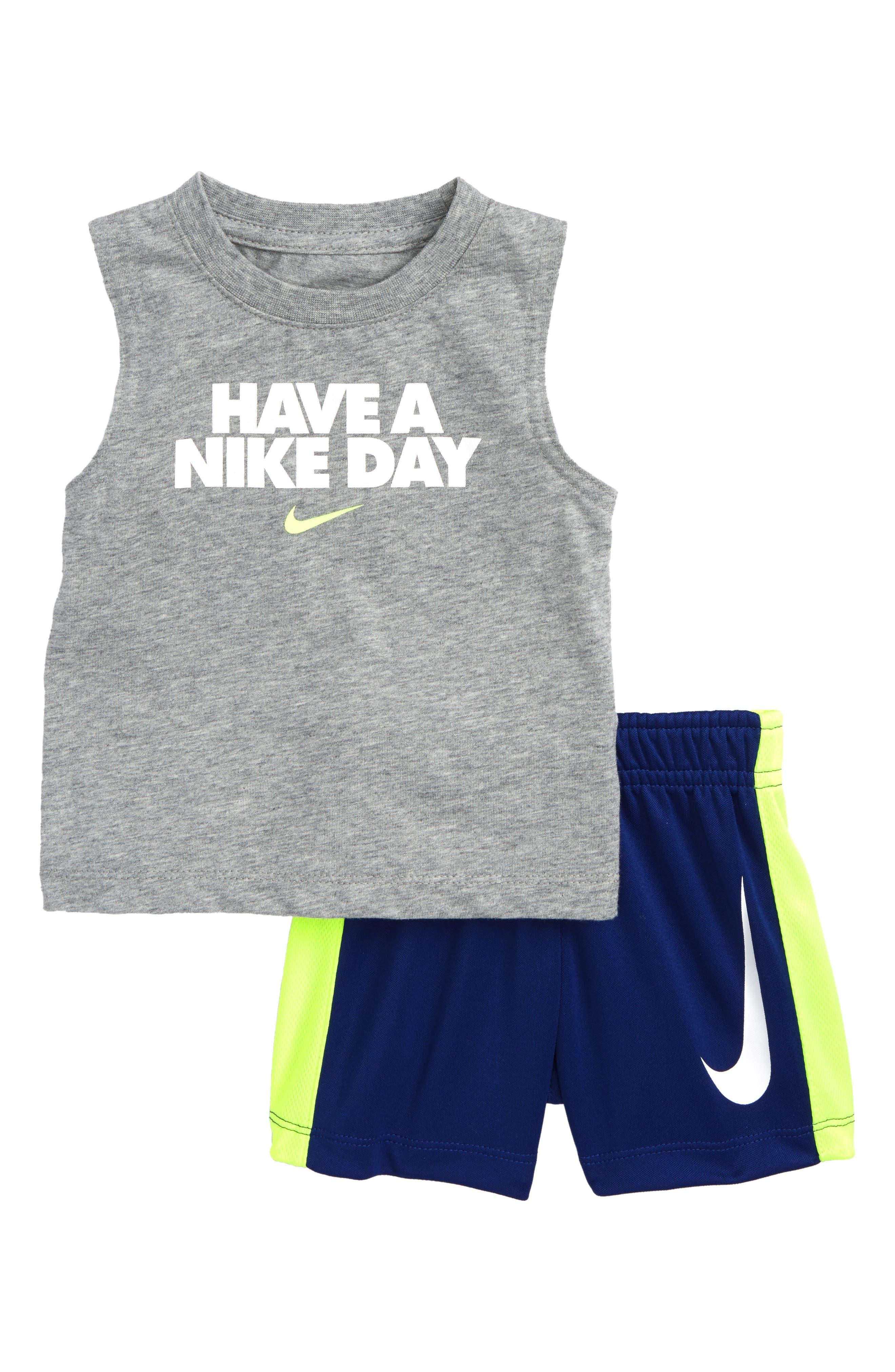Have a Nike Day Tank Top & Shorts Set,                         Main,                         color, Deep Royal Blue