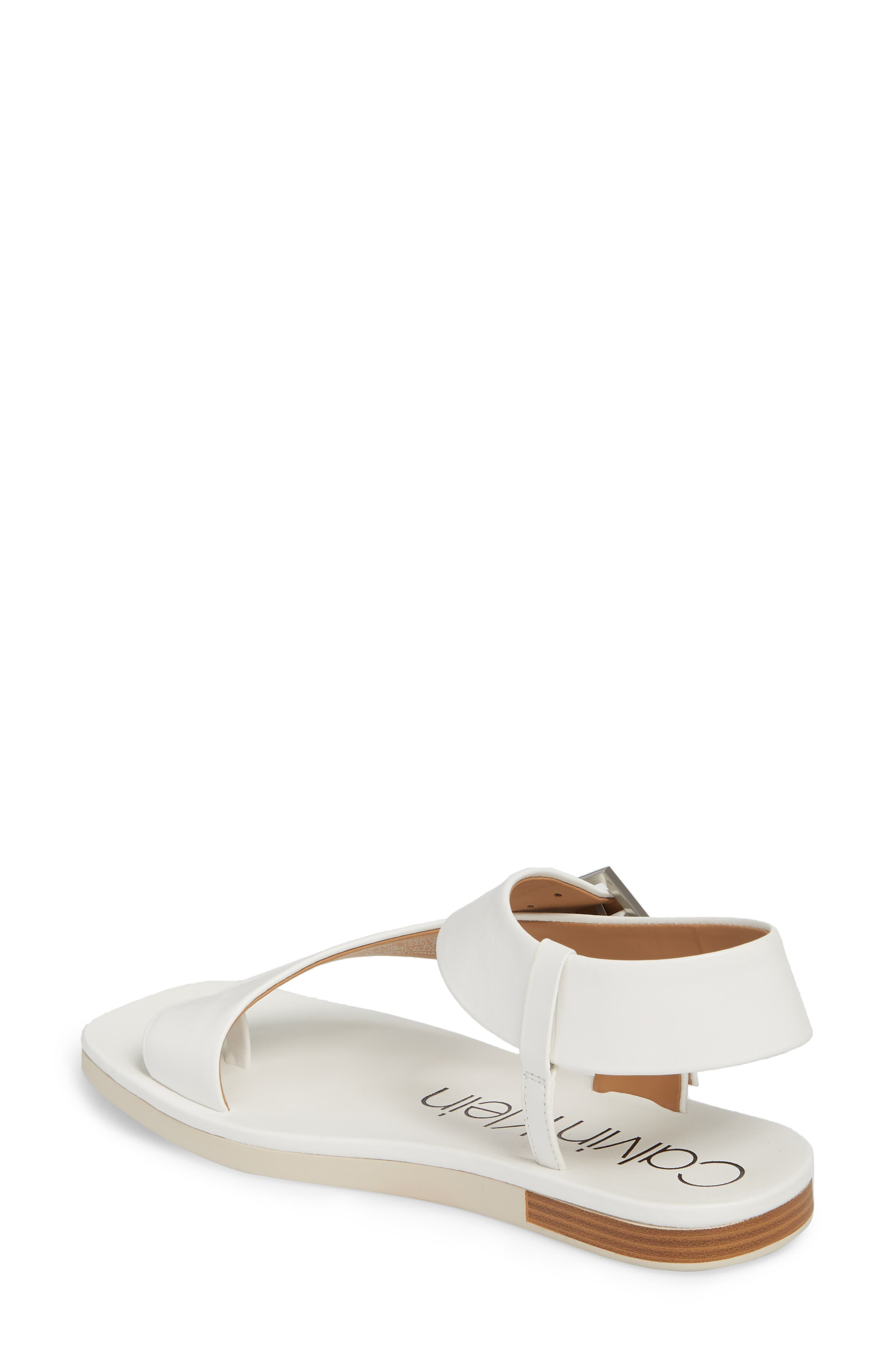 Rivita Sandal,                             Alternate thumbnail 2, color,                             Platinum White Leather