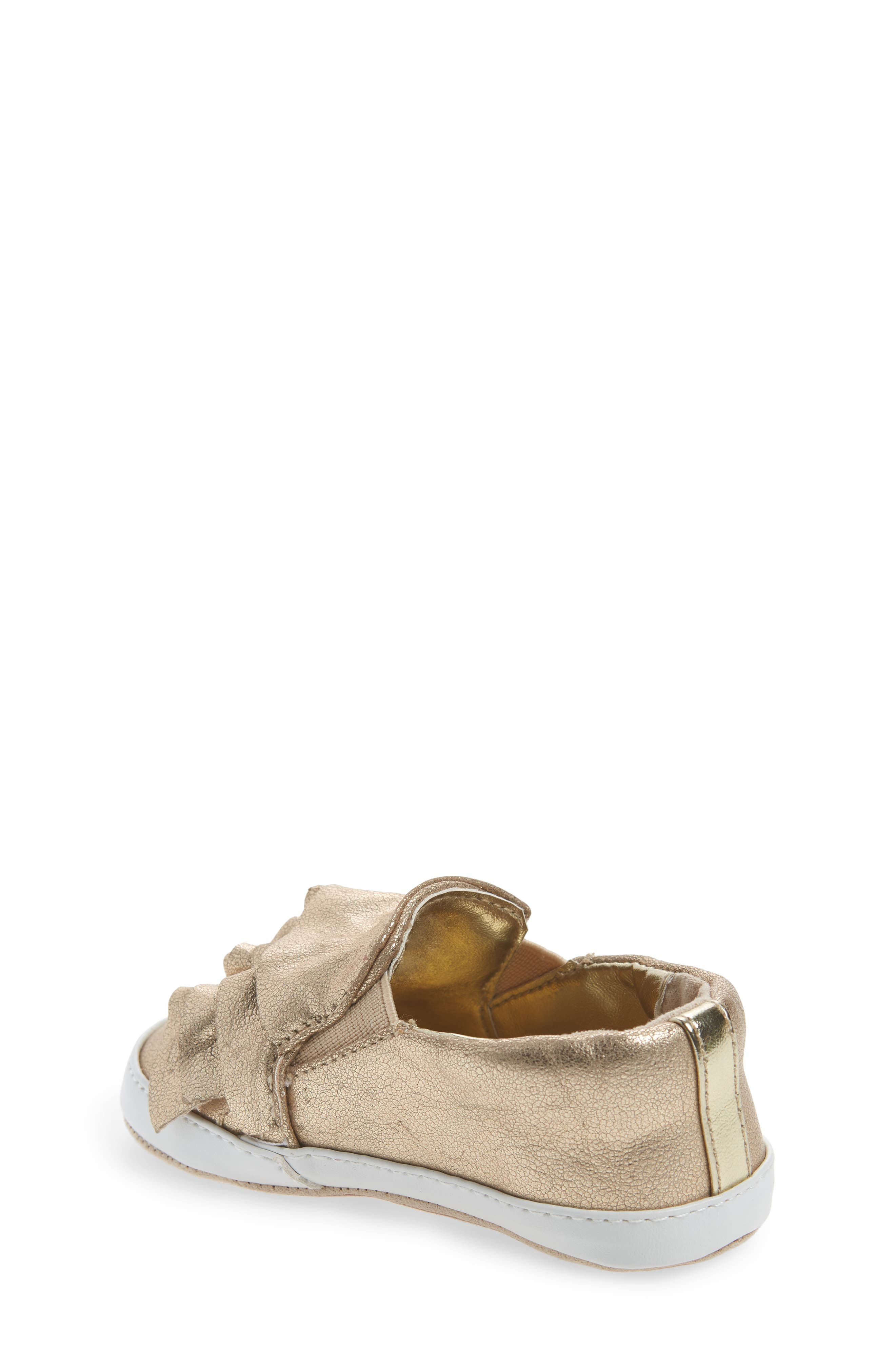 Ruffle Metallic Kam Slip-On Sneaker,                             Alternate thumbnail 2, color,                             Gold