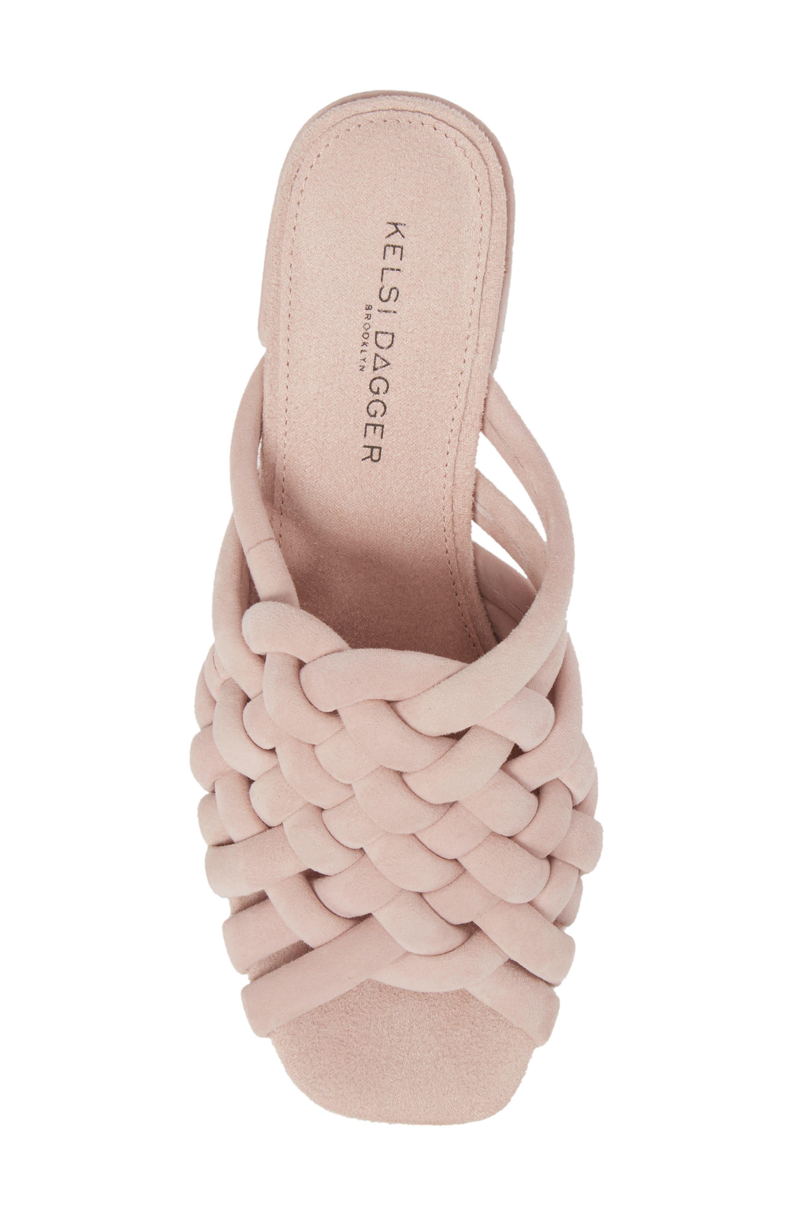 Sky Dress Woven Mule Sandal,                             Alternate thumbnail 5, color,                             Pale Pink