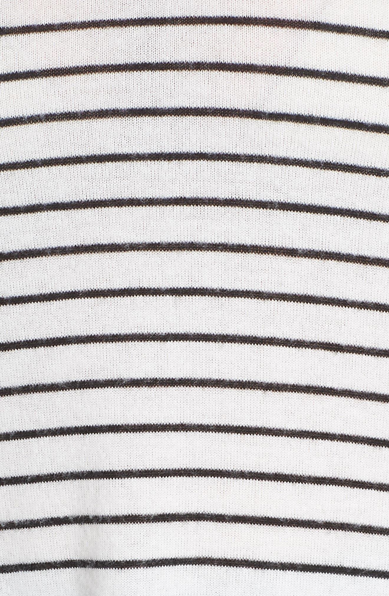 x Living in Yellow Steph Stripe Top,                             Alternate thumbnail 7, color,                             Black/ White Stripe