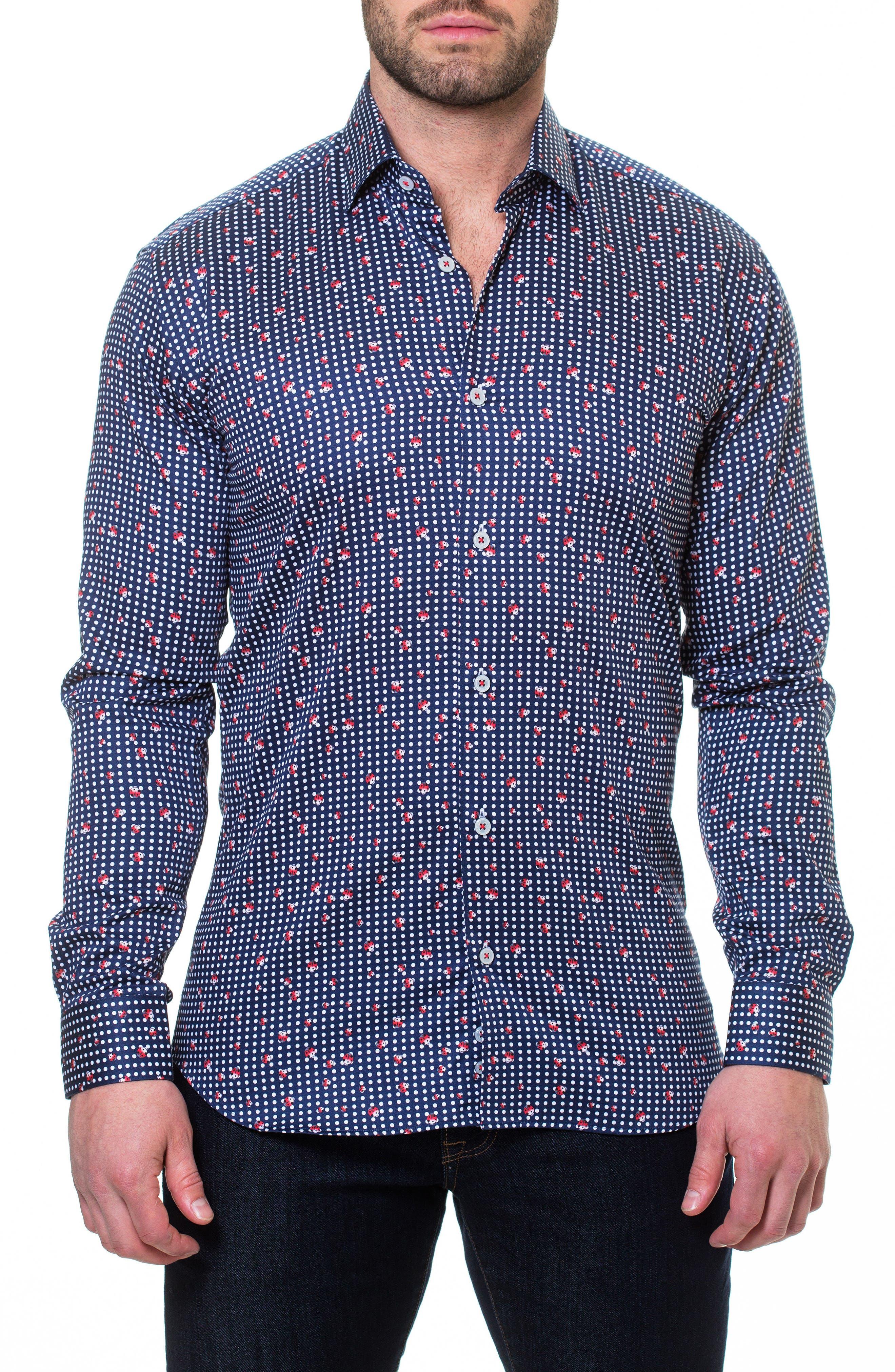 Luxor Ladybug Sport Shirt,                             Main thumbnail 1, color,                             Blue