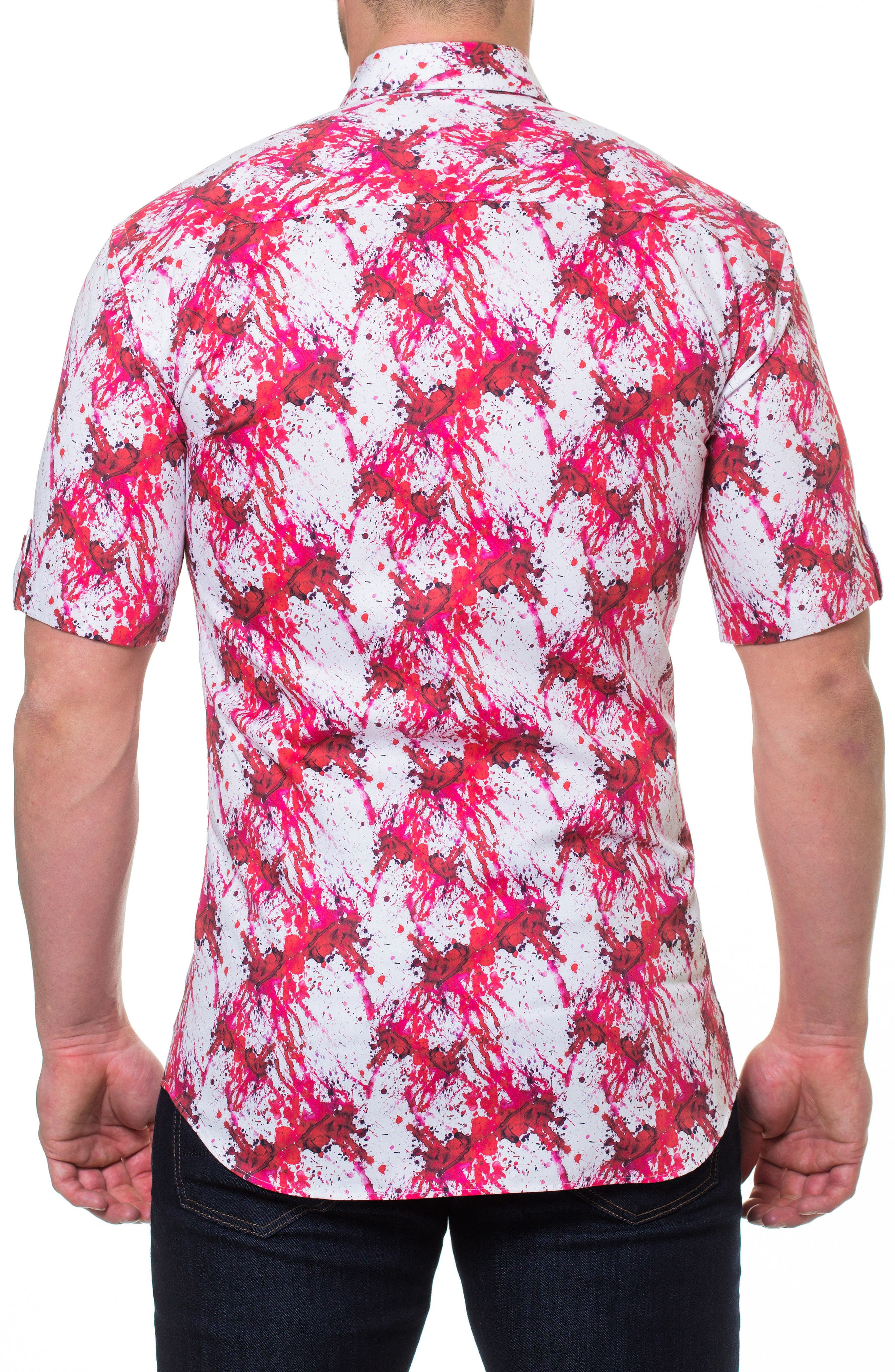 Fresh Dexter Sport Shirt,                             Alternate thumbnail 2, color,                             Red