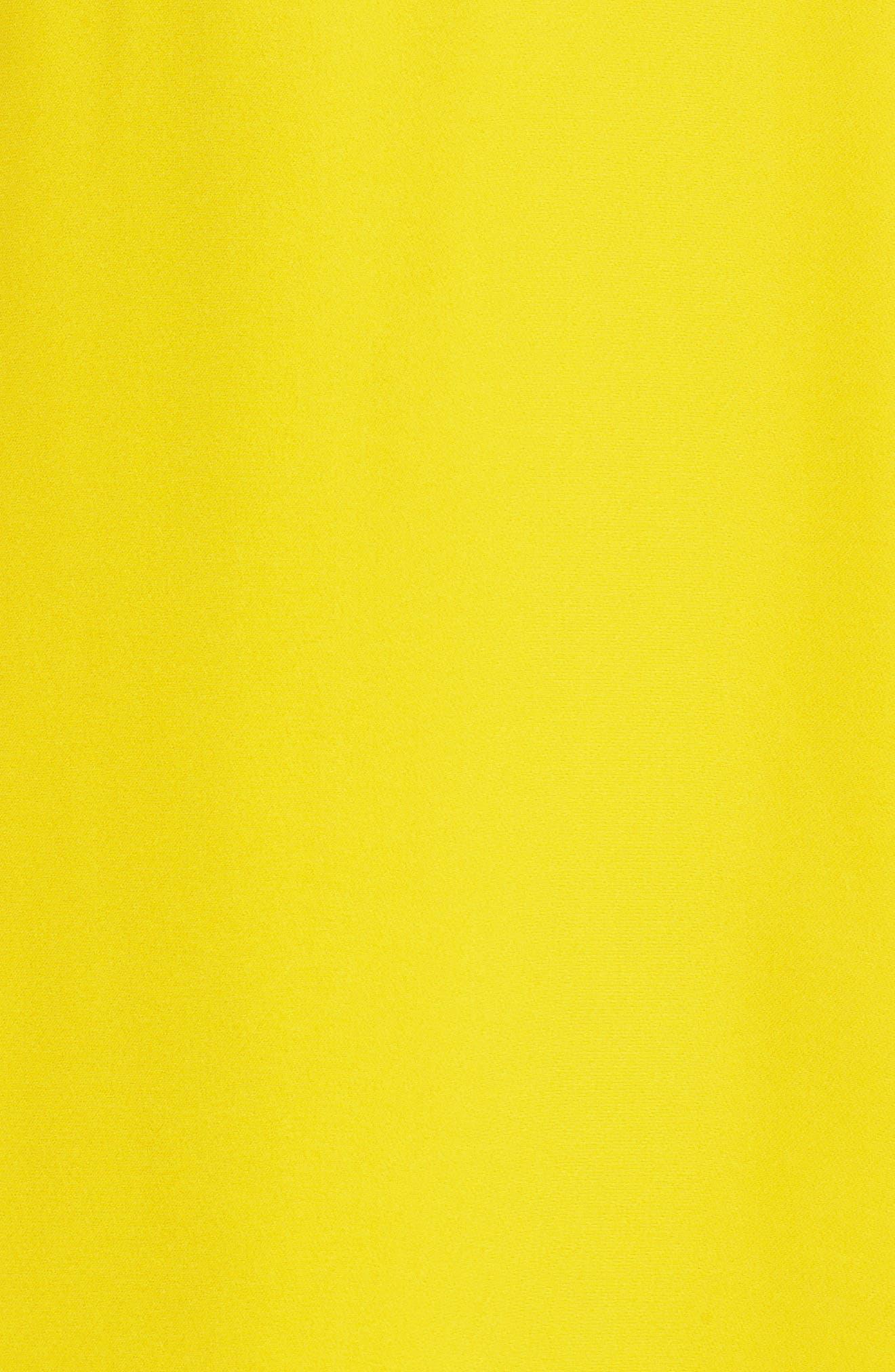 Amrita Crepe Shift Dress,                             Alternate thumbnail 6, color,                             Citrus