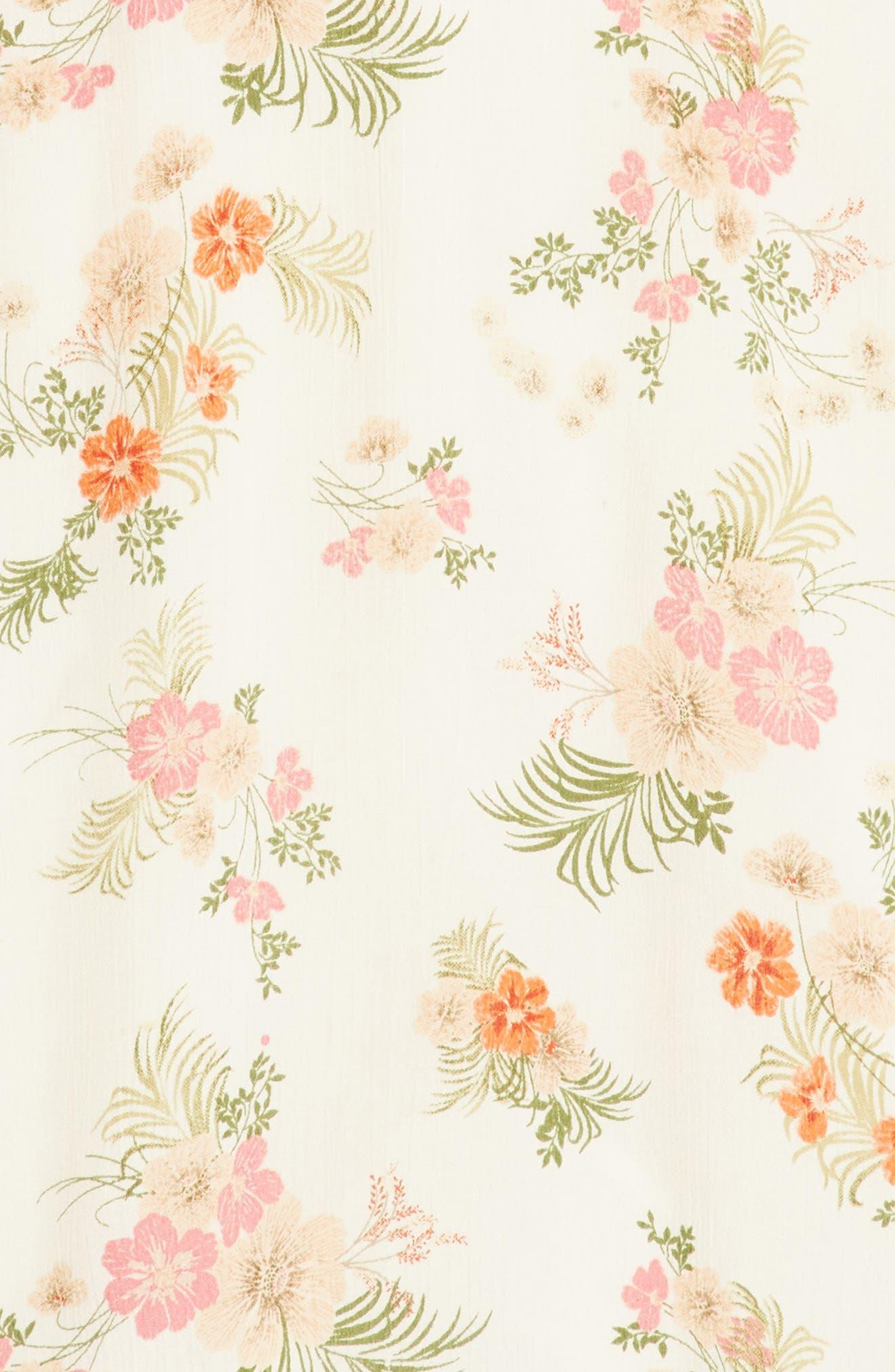 Ashley Print Dress,                             Alternate thumbnail 2, color,                             White Floral