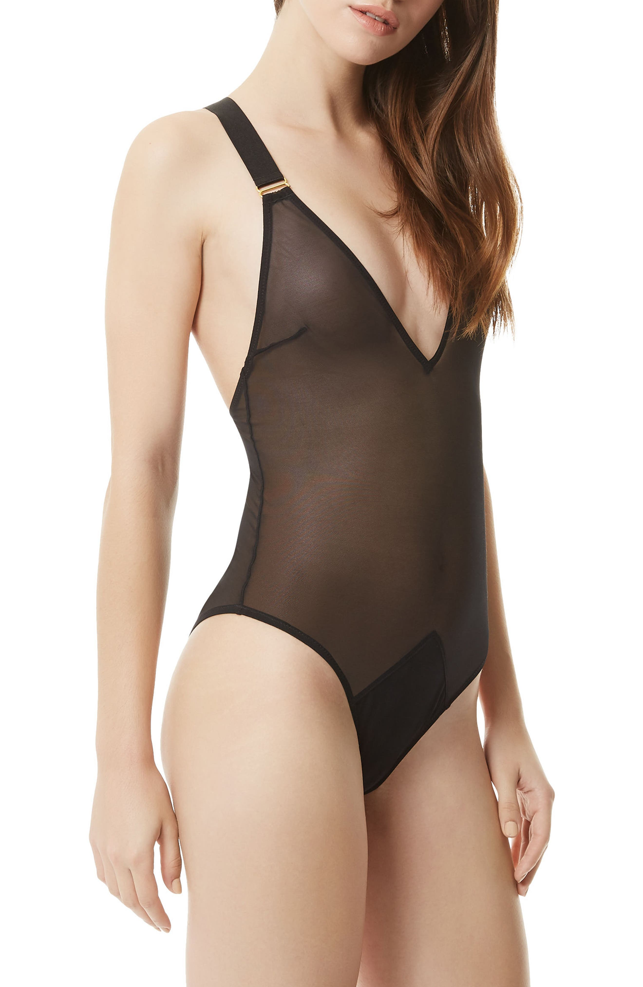 Marta Bodysuit,                             Alternate thumbnail 3, color,                             Black